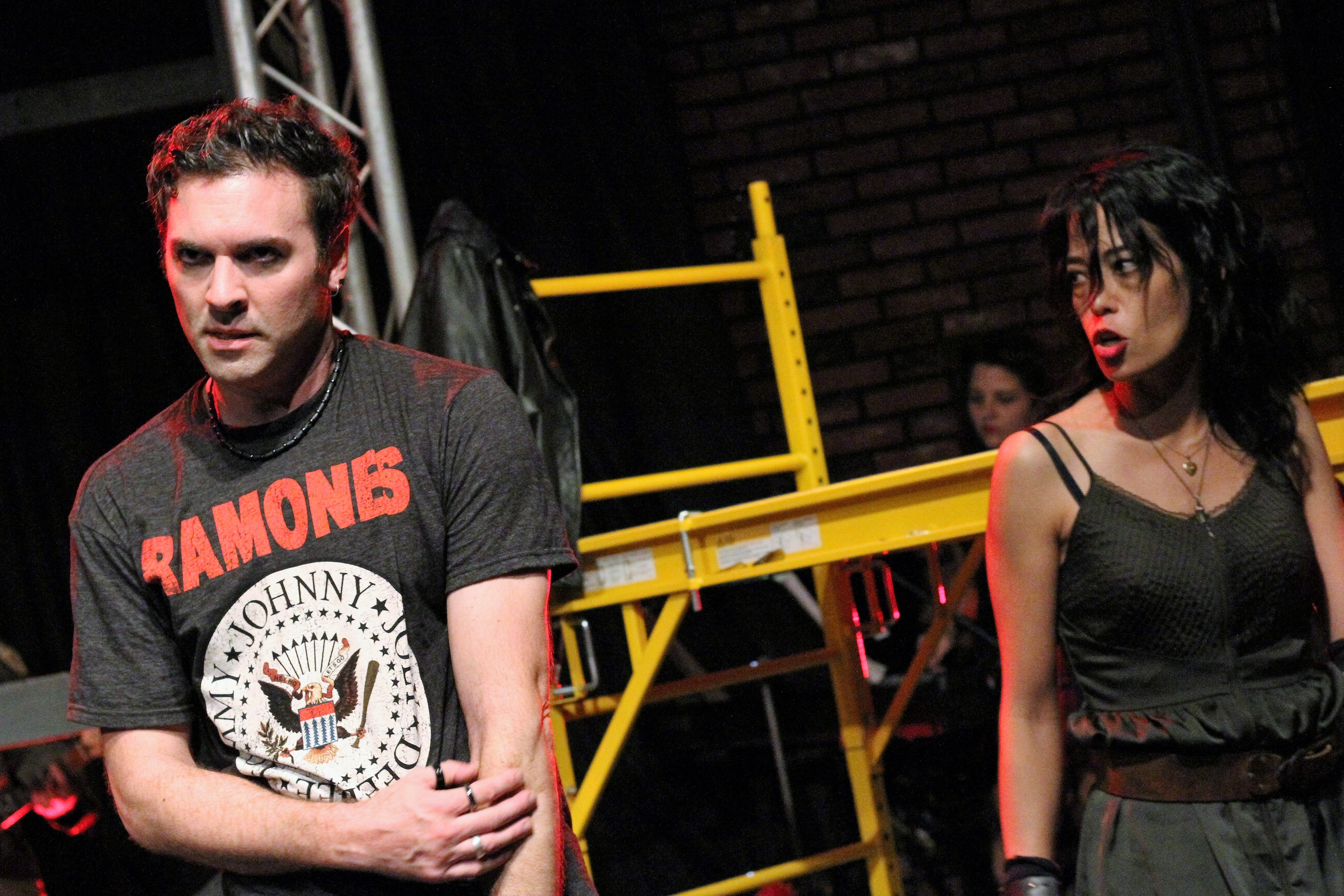 Christopher Teal and Sara Kow-Falcone star in   'American Idiot' presented by American Repertory Theater of WNY  (Photo by Sarah McIlhatten)