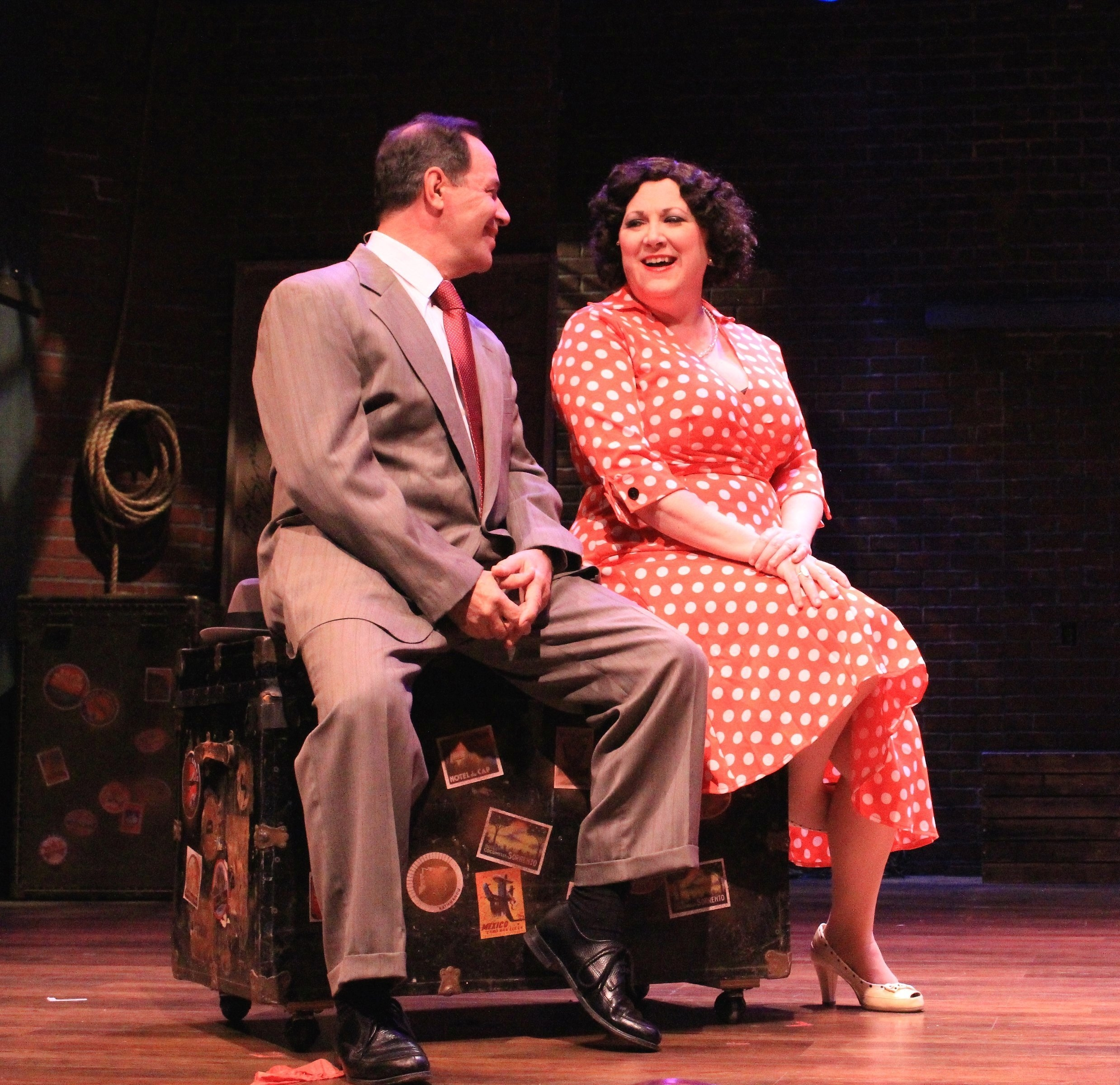 """John Fredo and Loraine O'Donnell as Herbie and Mama Rose in """"Gypsy"""" at MusicalFare Theatre. (Photo by Jesse Sloier)    2016."""