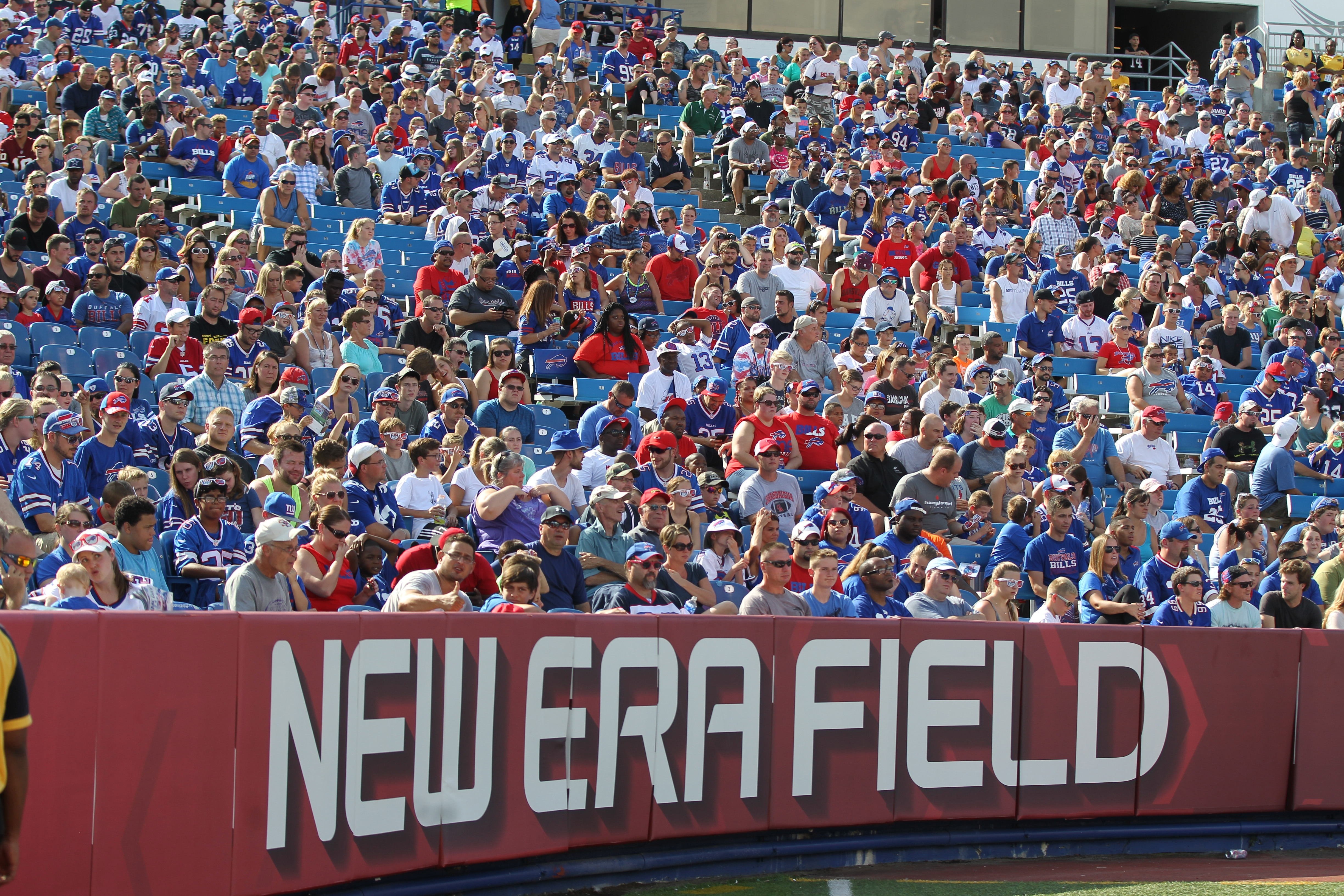 It may be time to change things up and start playing new music to get Bills fans at New Era Field more excited.