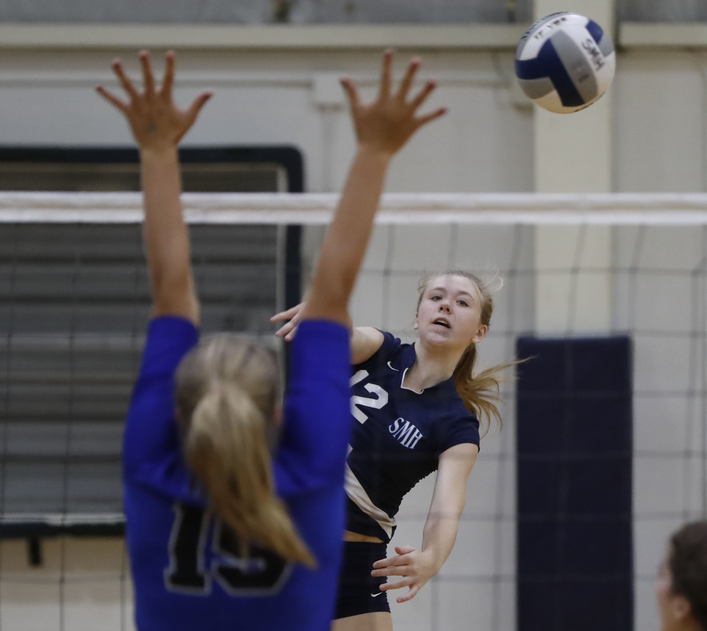 St. Mary's won its own invitational by defeating Eden in the championship match with the help of  hits like this by Summer Slade.