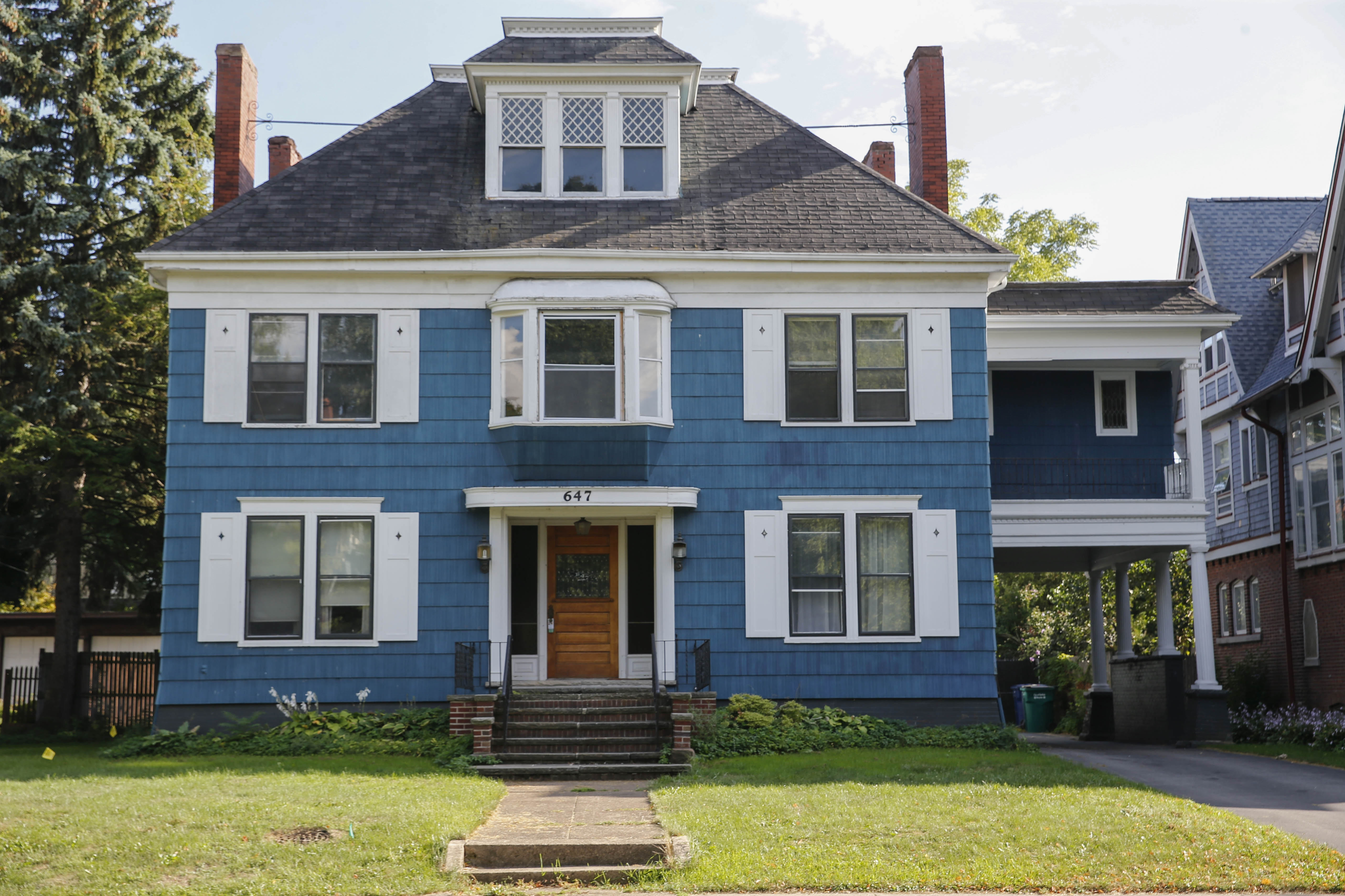 The owners say they bought the house at 647 Lafayette Ave. with plans to renovate, but found it was in such bad shape they now want to demolish and rebuild. (Derek Gee/Buffalo News)