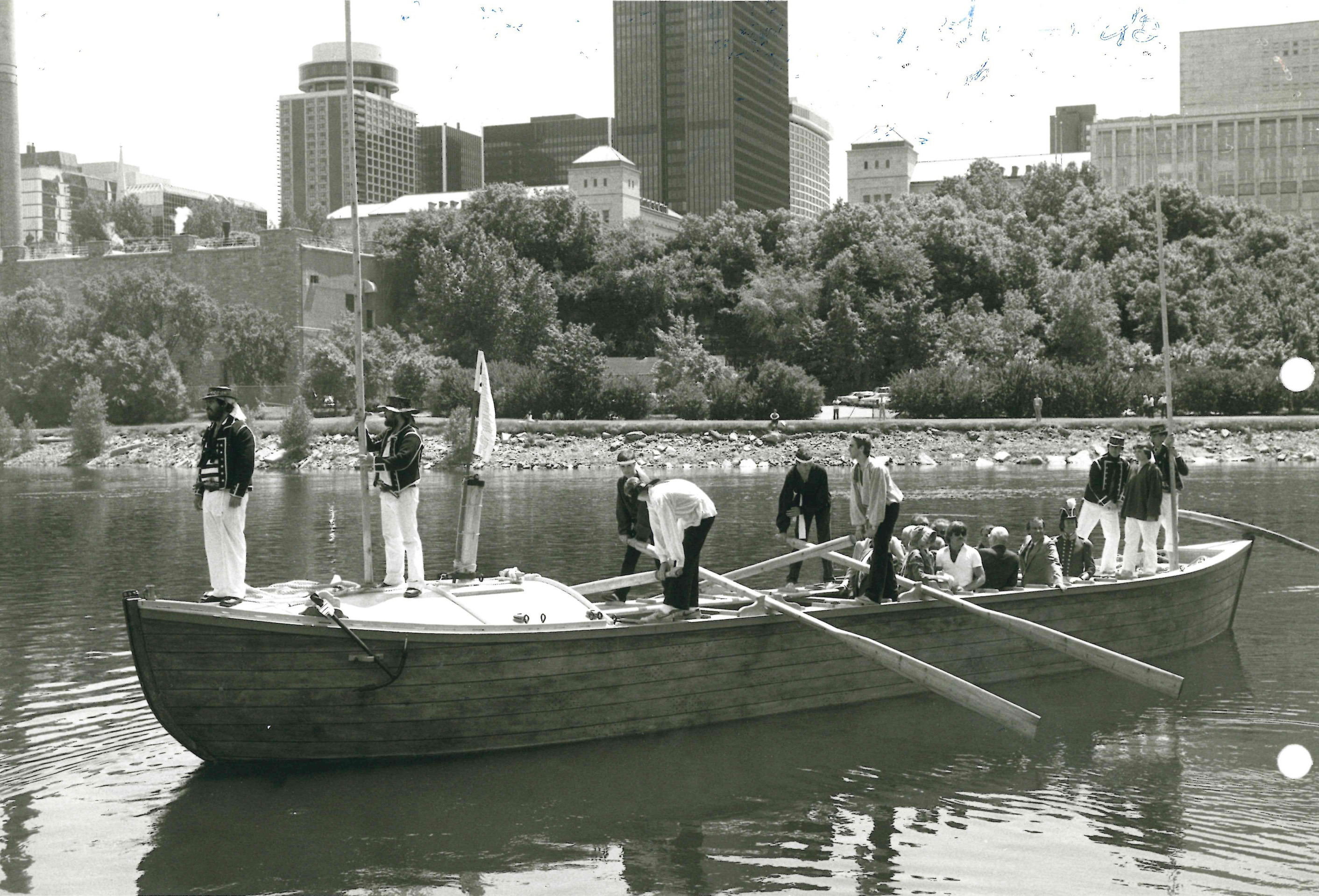The City of Lockport plans to buy a replica of an Erie Canal boat from the Buffalo Maritime Center. This undated photo shows the type of boat that the center will build for Lockport. (Courtesy of Buffalo Maritime Center).