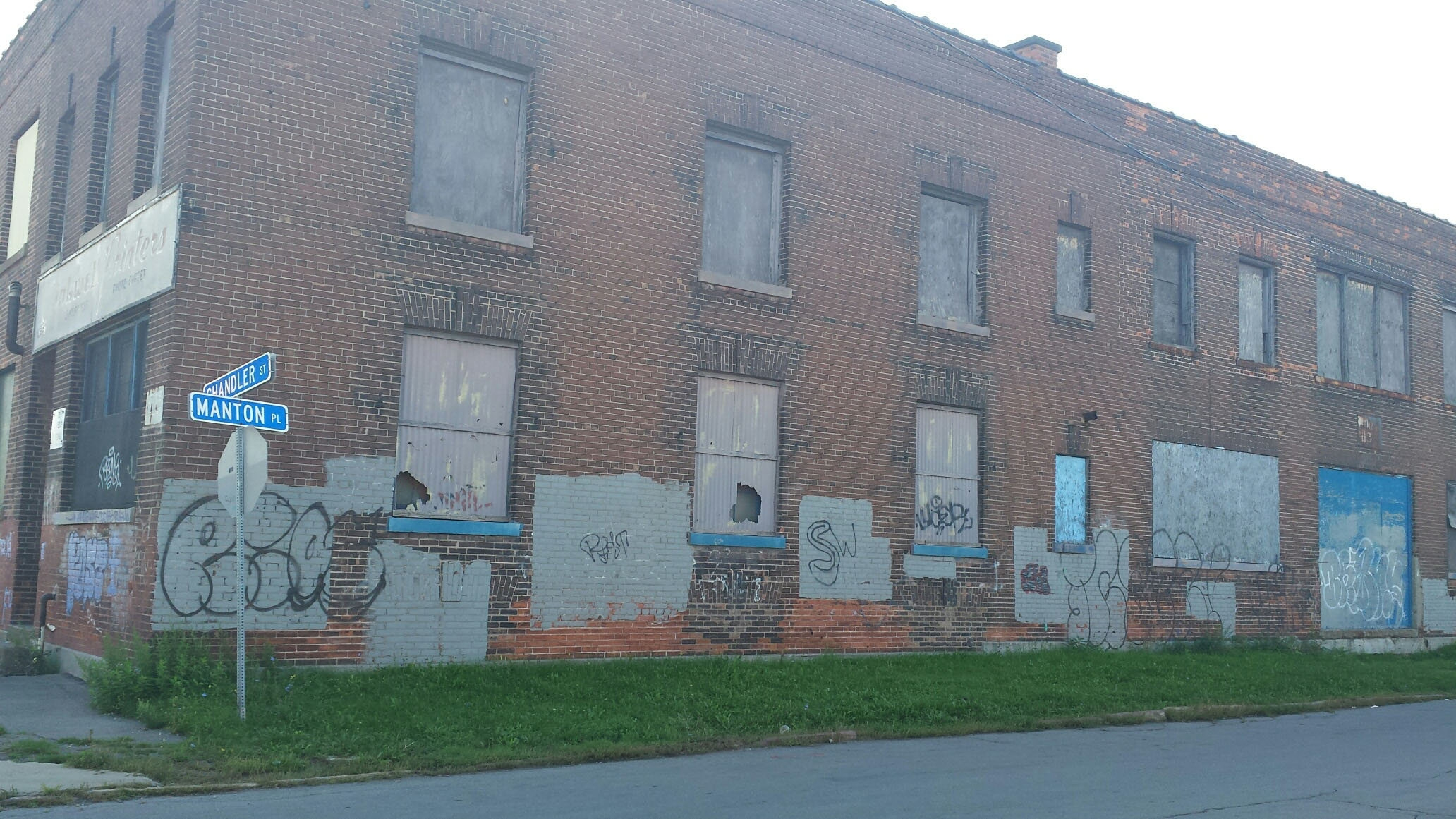 Here's what 155 Chandler St. in Buffalo looked like on Wednesday, Sept. 21, 2016. Rocco Termini has proposed a redevelopment of the former Linde Air Manufacturing plant.