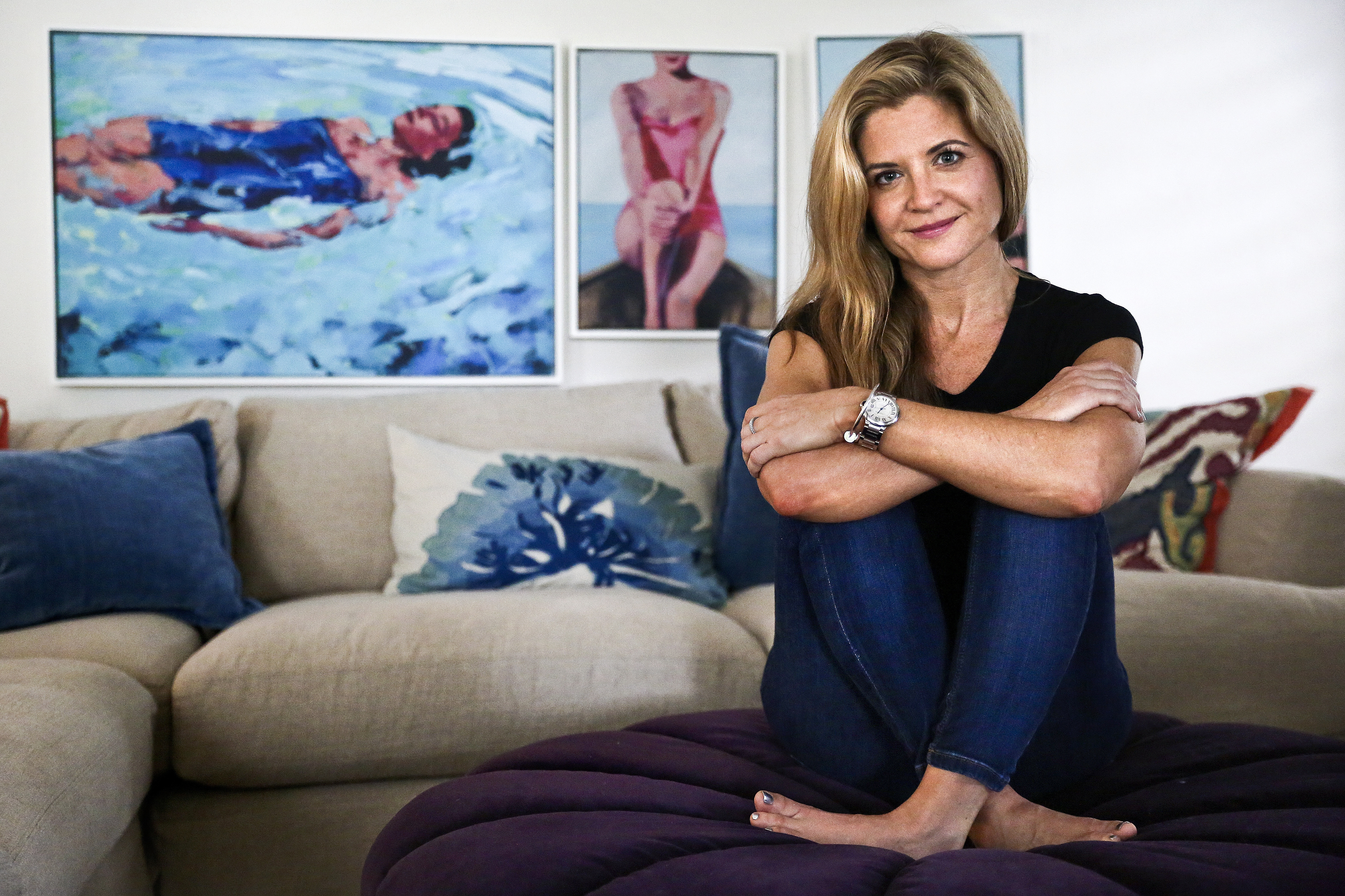 """Glennon Doyle Melton at home in Naples, Fla. Her new book, """"Love Warrior,"""" is about saving her marriage and also about what happens to young women when they move into adolescence."""
