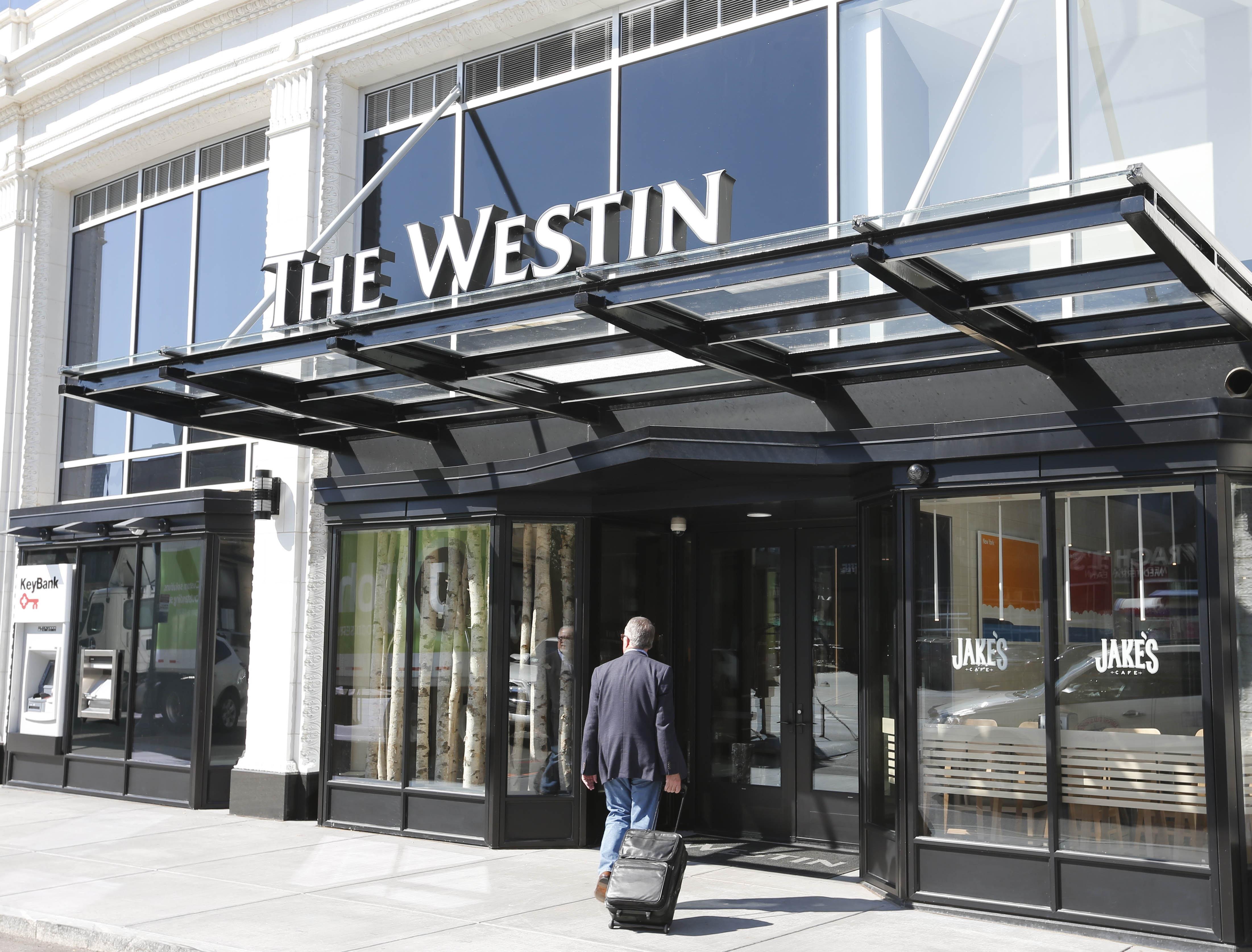 The Westin at 250 Delaware Avenue in downtown Buffalo. (Derek Gee/Buffalo News)