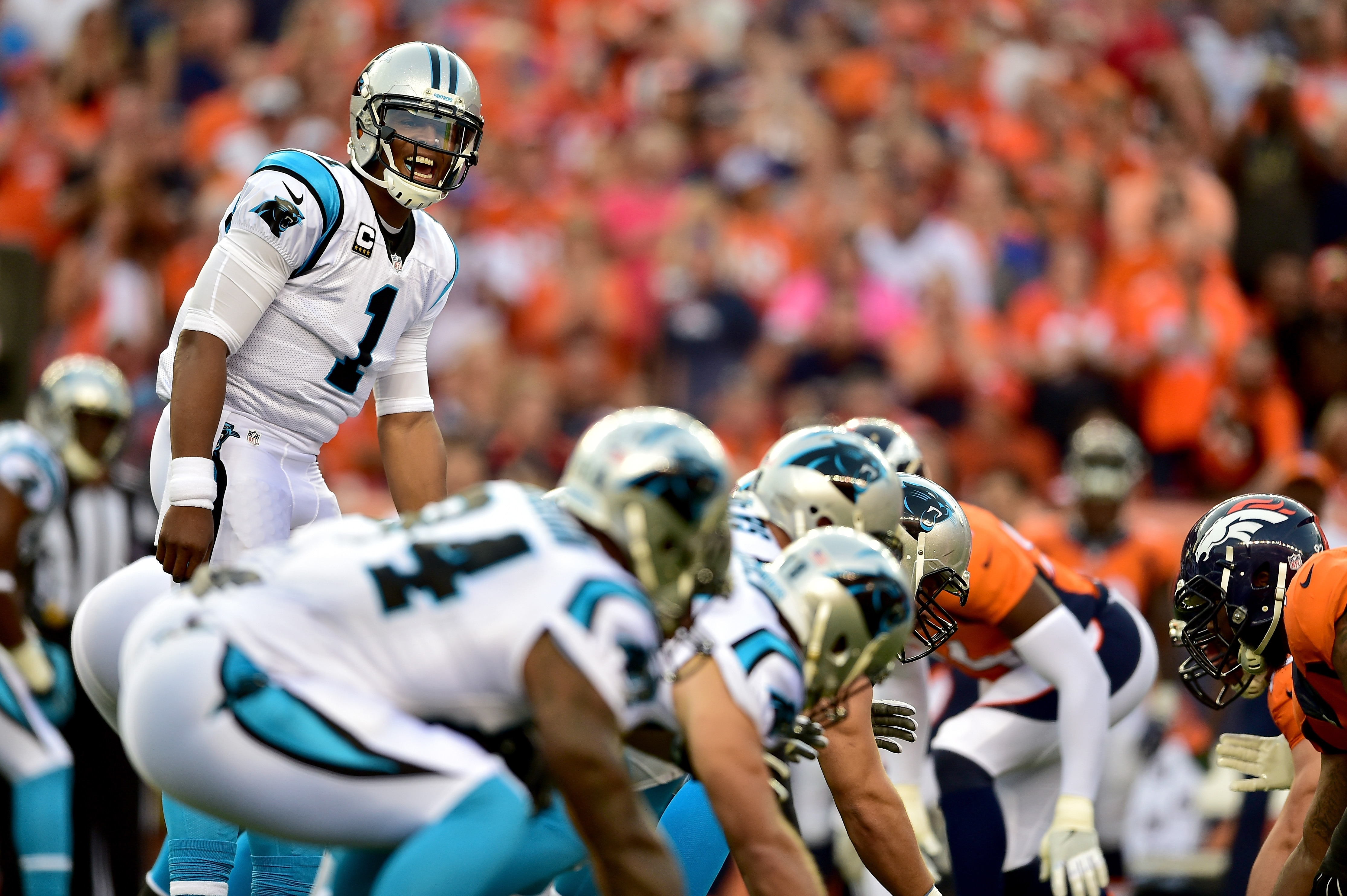 It's a classic clash as Cam Newton and the Carolina Panthers prepare to face Minnesota's suffocating defense. (Getty Images)