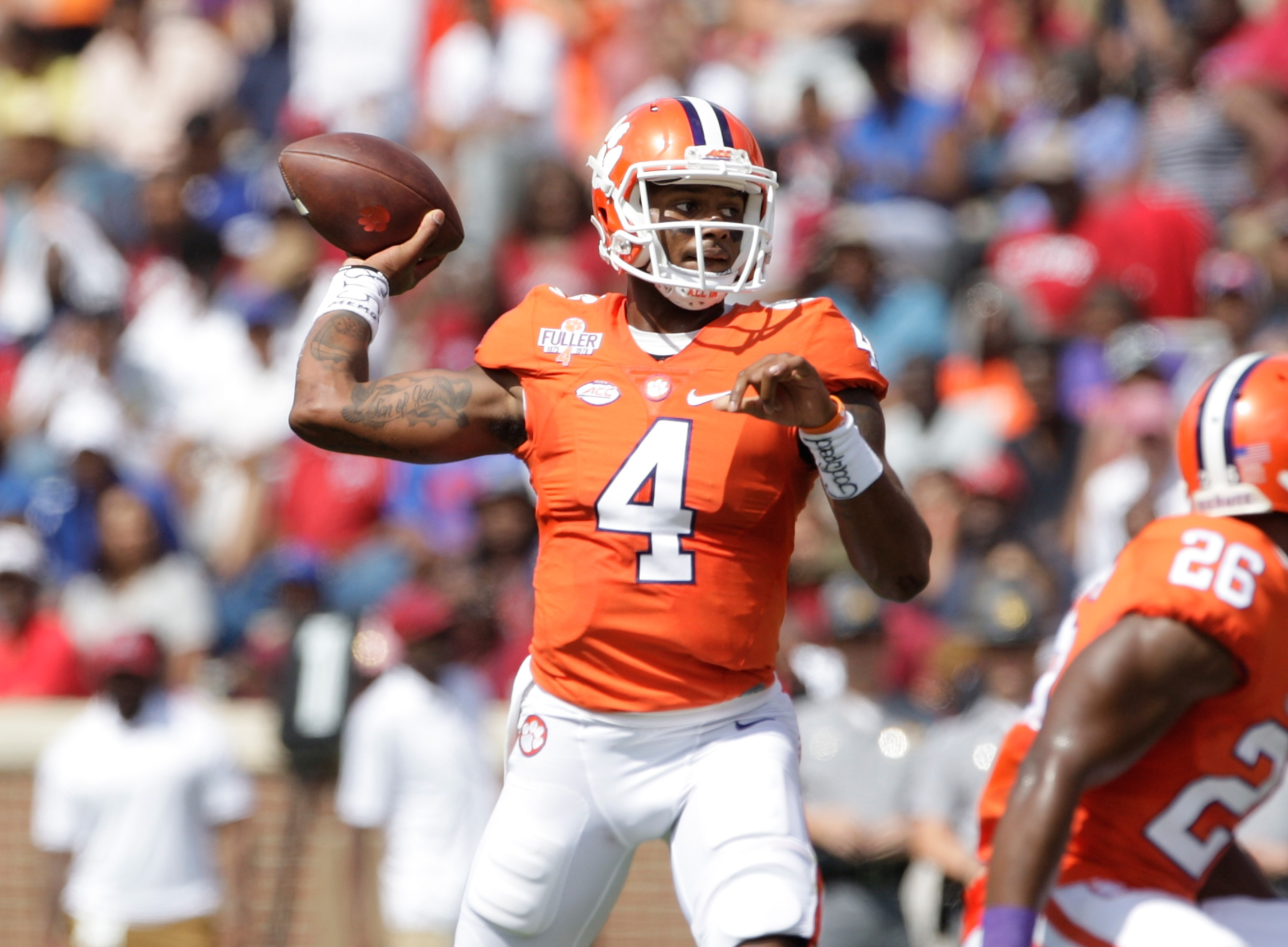 Deshaun Watson of the Clemson Tigers is a contender for the No. 1 QB in the 2017 NFL draft.