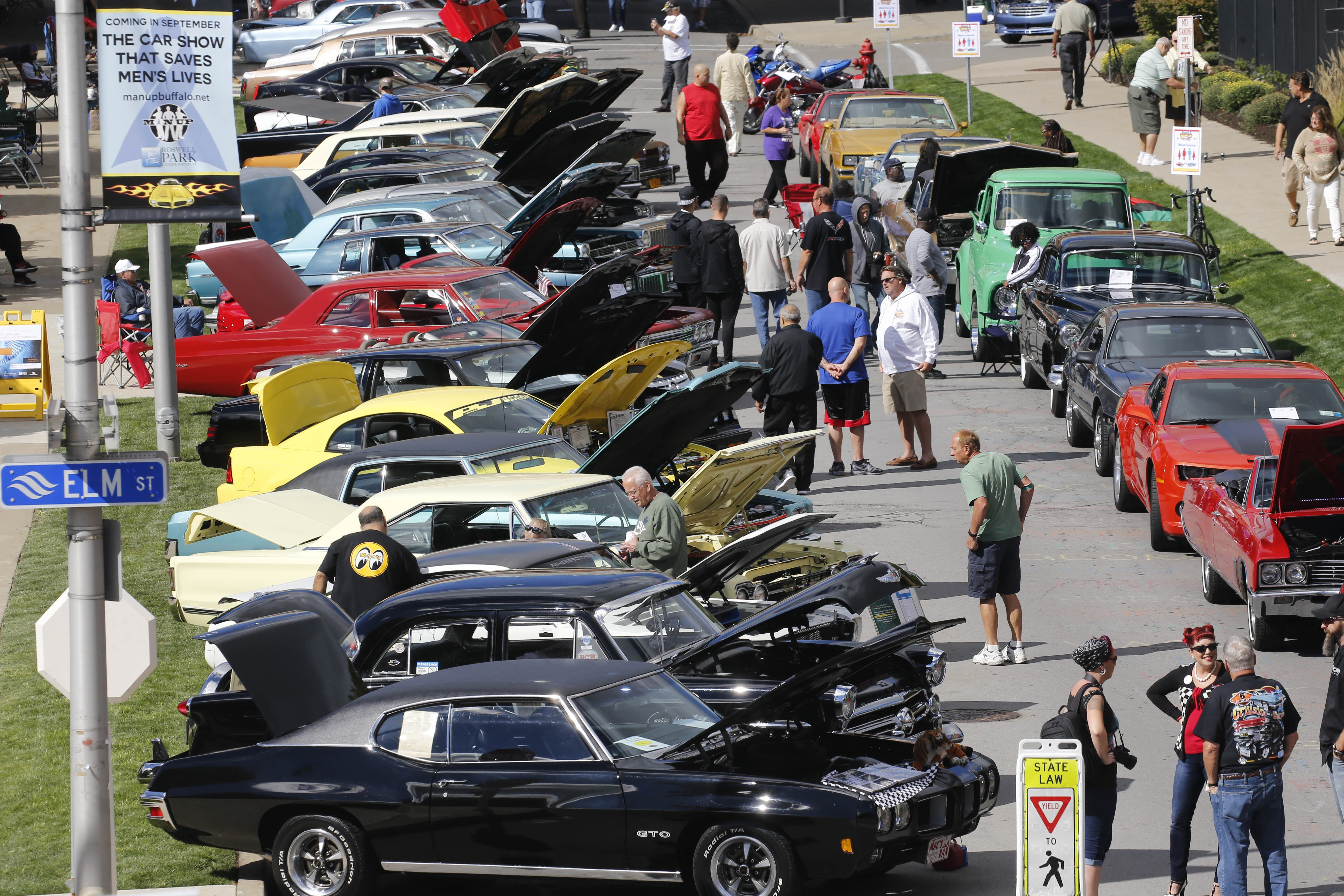 Classic cars line Carlton Street for the Cruisin' for a Cure classic car show and prostate cancer education and screening event on Saturday. The show reignited the national debate over whether screening men for prostate cancer was worth the risks involved.