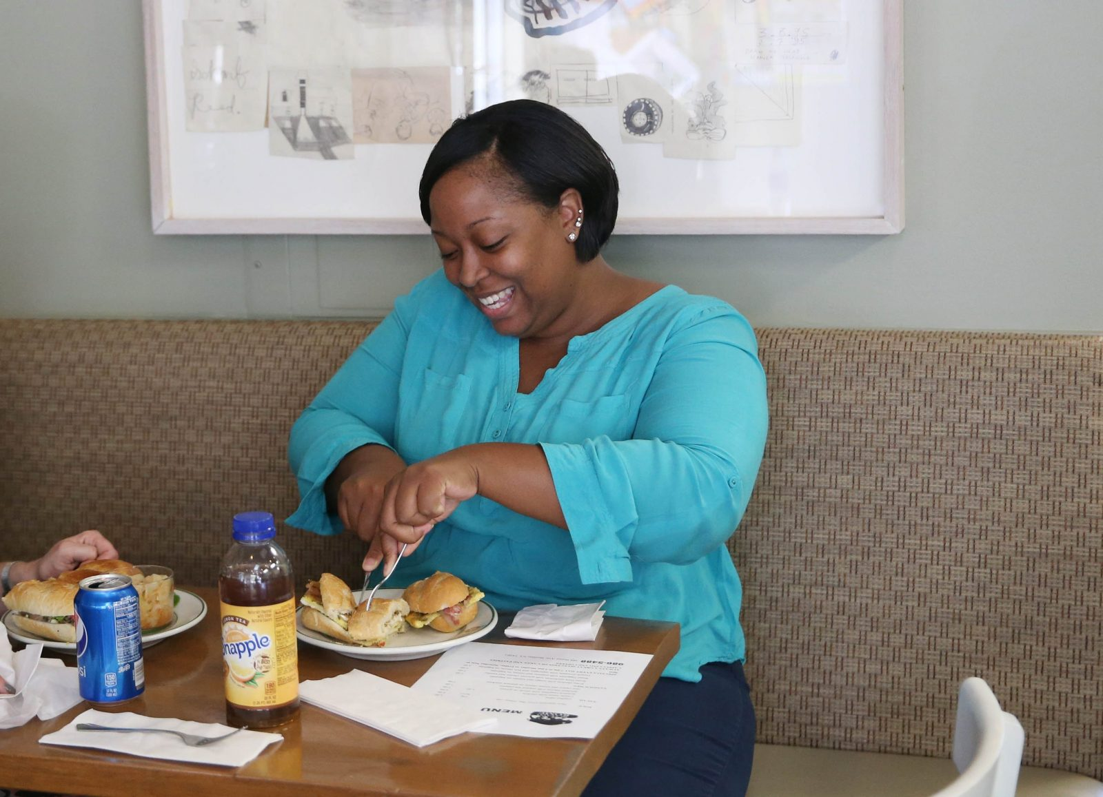 Buffalo Rome is at 388 Porter Ave. in Buffalo. Darlene Grillo, left and Antoinette Dato enjoy their  lunch.  They work nearby at D'Youville College.  Photo taken, Tuesday, Sept. 20, 2016.  (Sharon Cantillon/Buffalo News)