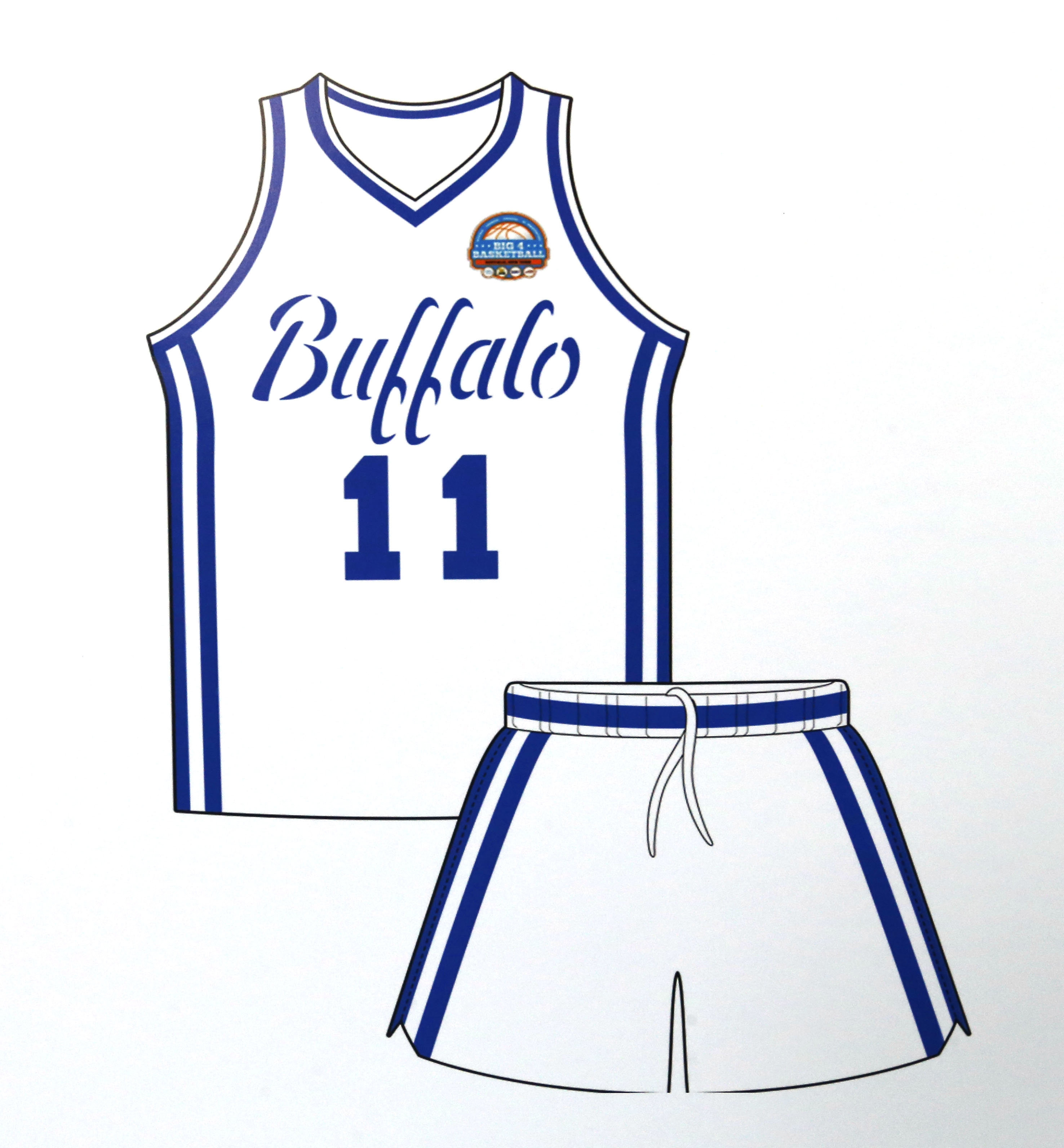 Throwback uniform that will worn by UB for the Big 4 Basketball Classic.