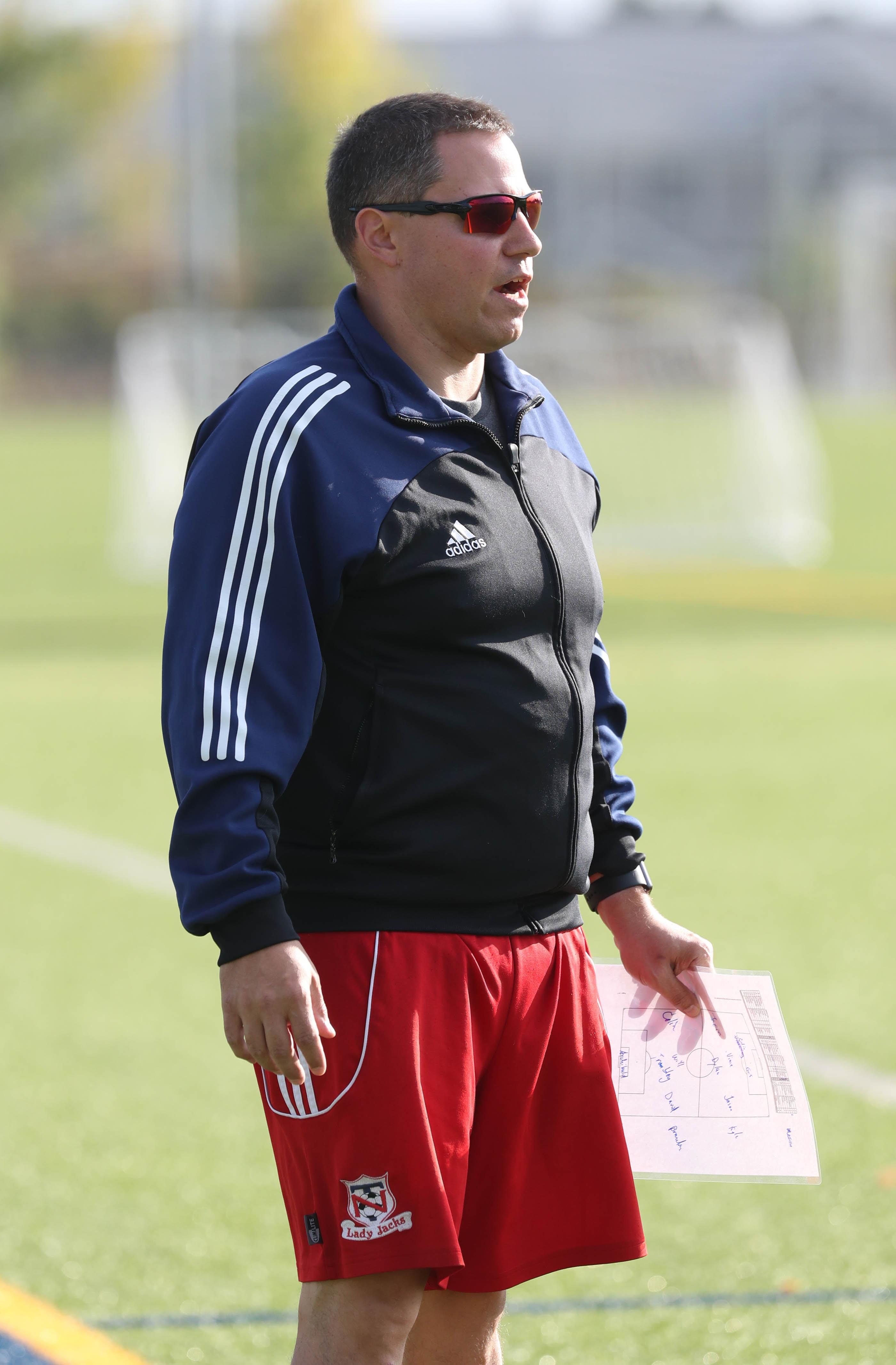 Steve Sabo looks to get the North Tonawanda boys soccer team on a path toward respectability. He has a strong coaching resume, having guided NT's girls soccer program to 185 wins over 17 seasons. (James P. McCoy/ Buffalo News)