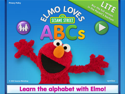 Elmo Loves ABCs is one of the educational apps for your children.