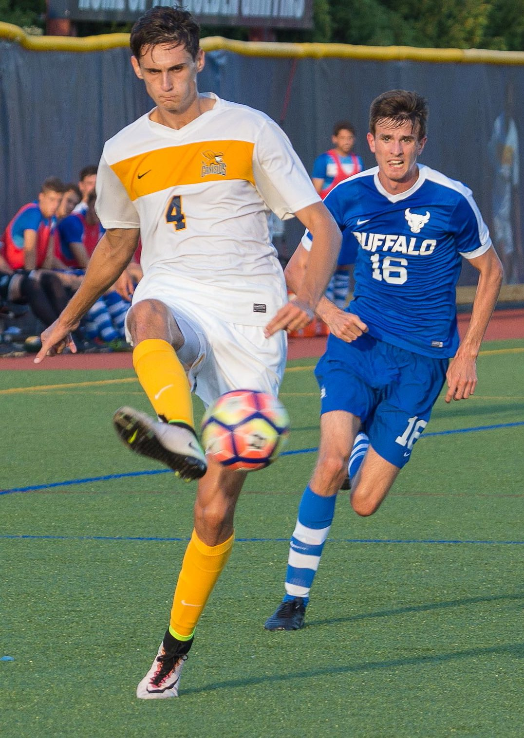 Towering Canisius center back Alex Grattarola will thrive in the air next to Teupen. (Don Nieman/Special to The News)