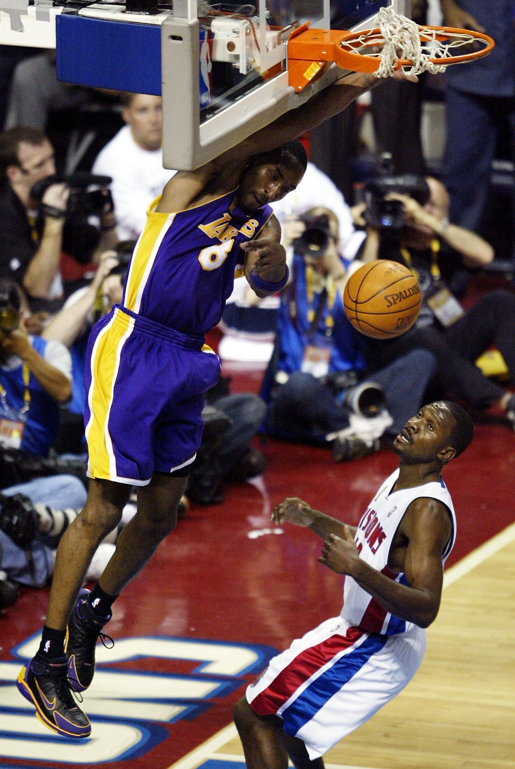 Hunter admired Kobe Bryant's relentless work ethic - and here saw the results up close.