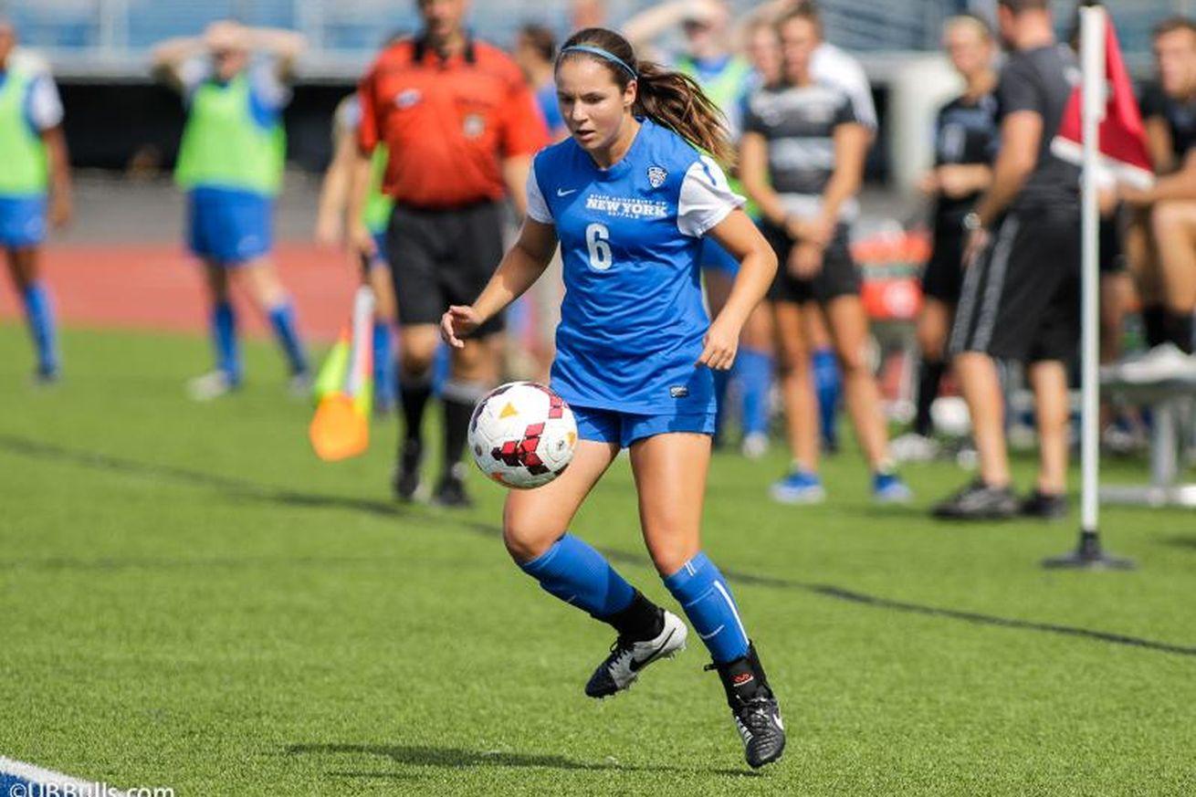 BN Soccer likes Julia Benati's game. (via UB Athletics)