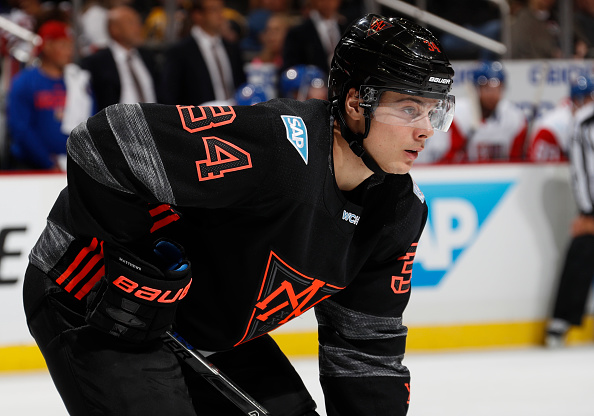 Auston Matthews will open on Connor McDavid's wing in Team North America's opener Sunday night (Getty Images).