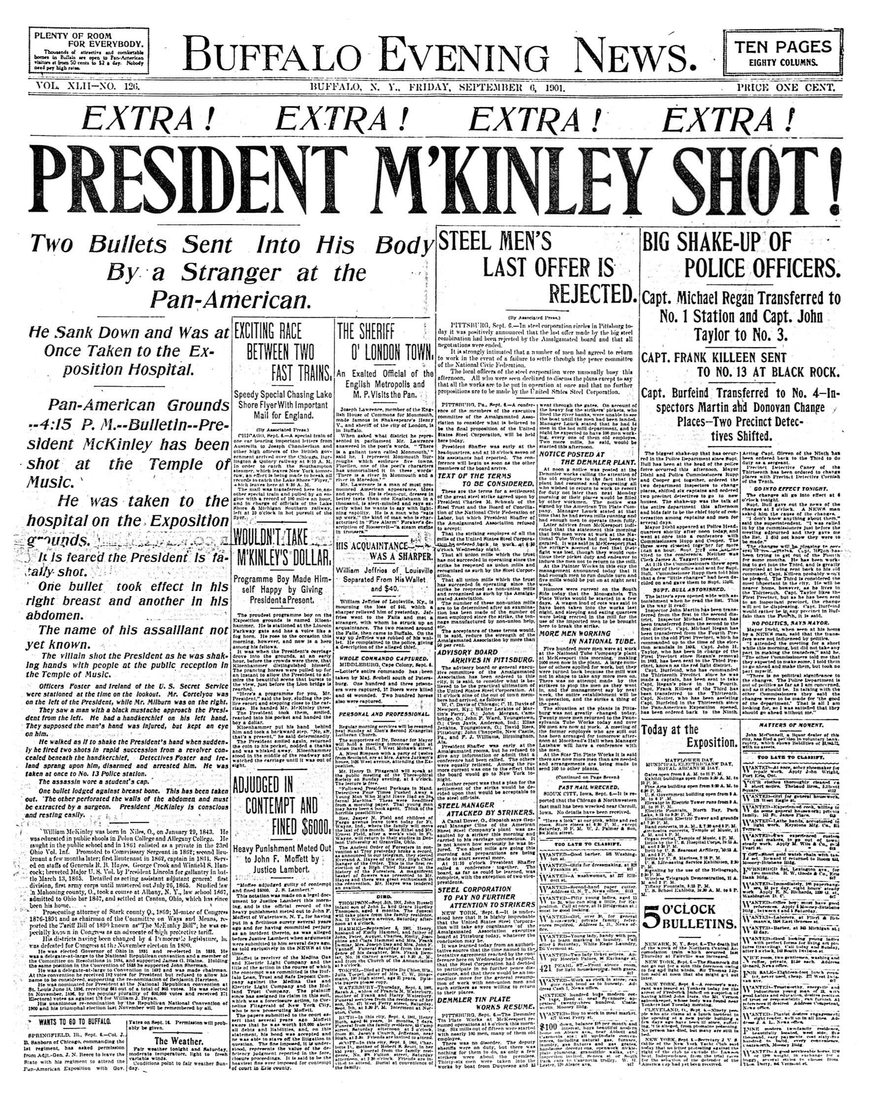McKinley shot
