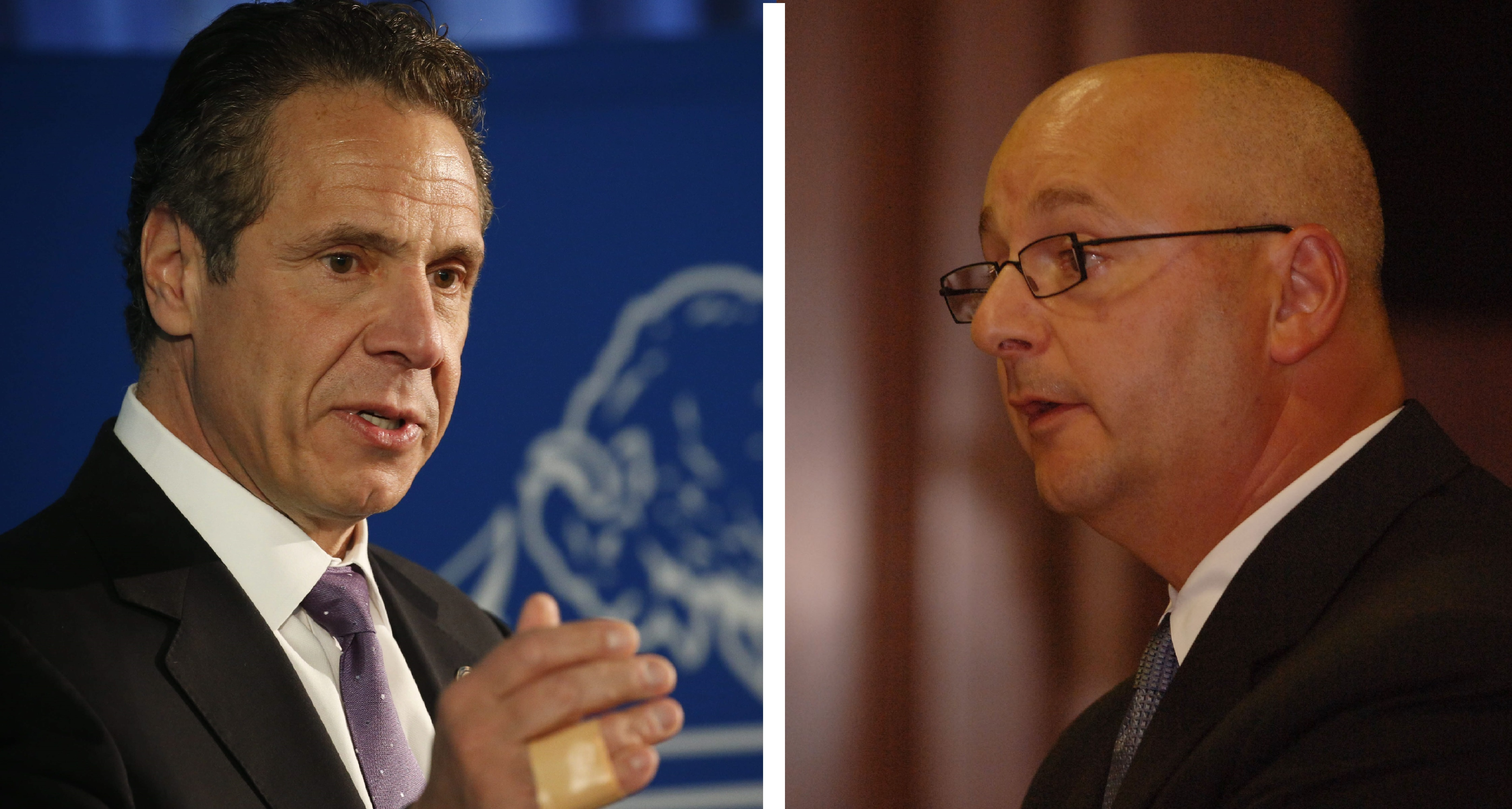 Gov. Andrew Cuomo and Lou Ciminelli have had a close relationship, both in government and in politics. (News file photos)