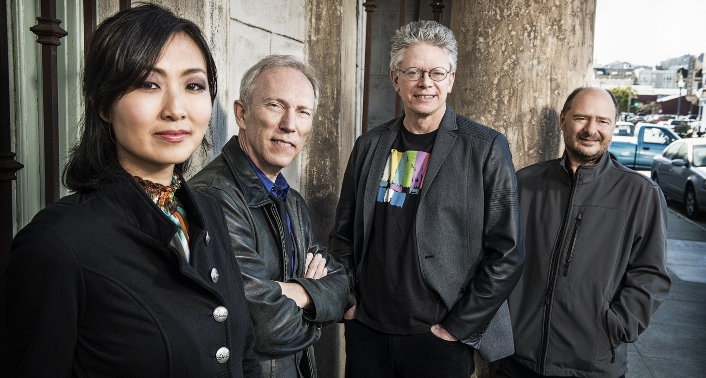 Kronos Quartet is made up of, from left, Sunny Yang (cello), Hank Dutt (viola), David Harrington (violin) and John Sherba (violin).