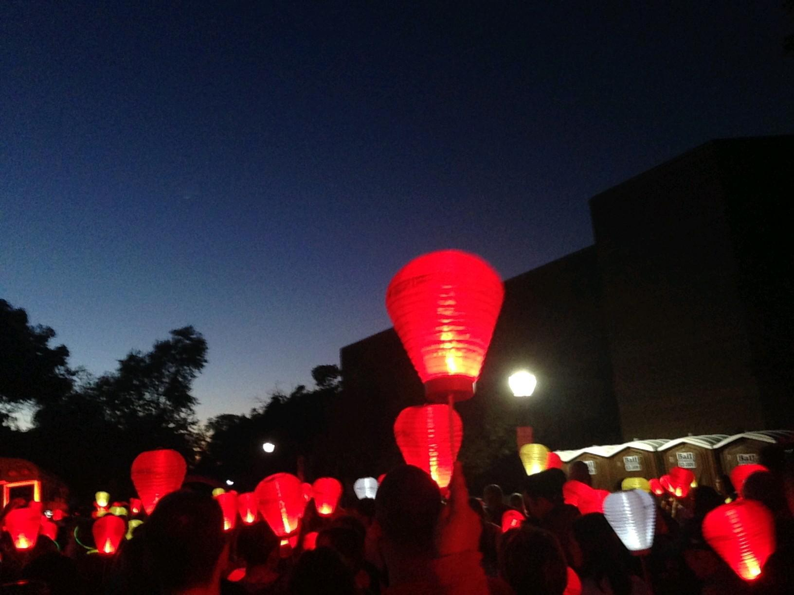Lanterns will help bring meaning to the Leukemia & Lymphoma Society Light the Night Walk Friday in Delaware Park. (Buffalo News file photo)