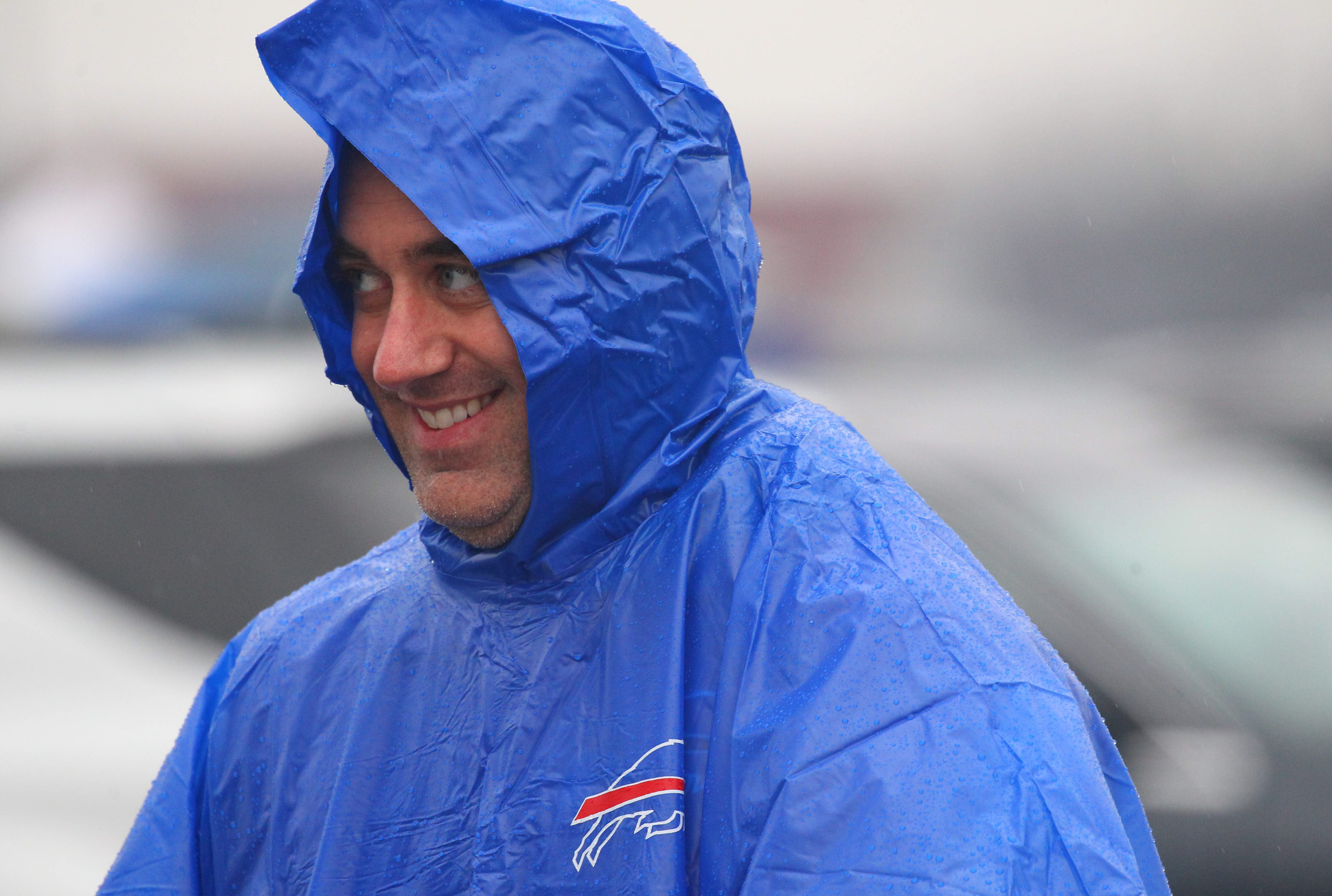 Stick a rain poncho in your pocket if you're headed out to Sunday's game, just in case. There's a 40 percent chance for showers, according to the National Weather Service forecast. (Mark Mulville/Buffalo News)