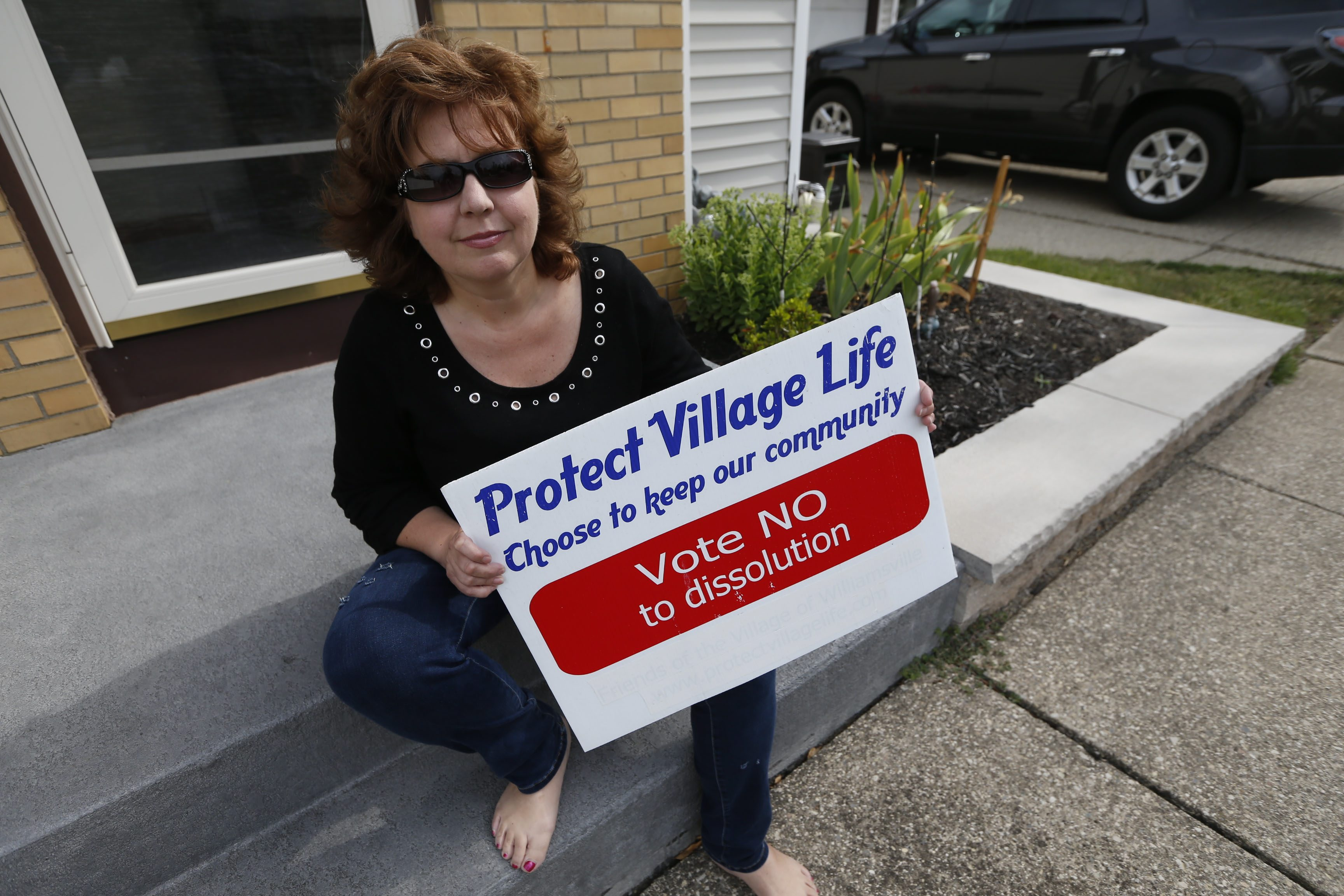 Leigh Ann Wacht is spearheading a citizens grassroots group called VOTE, which is fighting dissolution of the Village of Depew. (Robert Kirkham/Buffalo News)