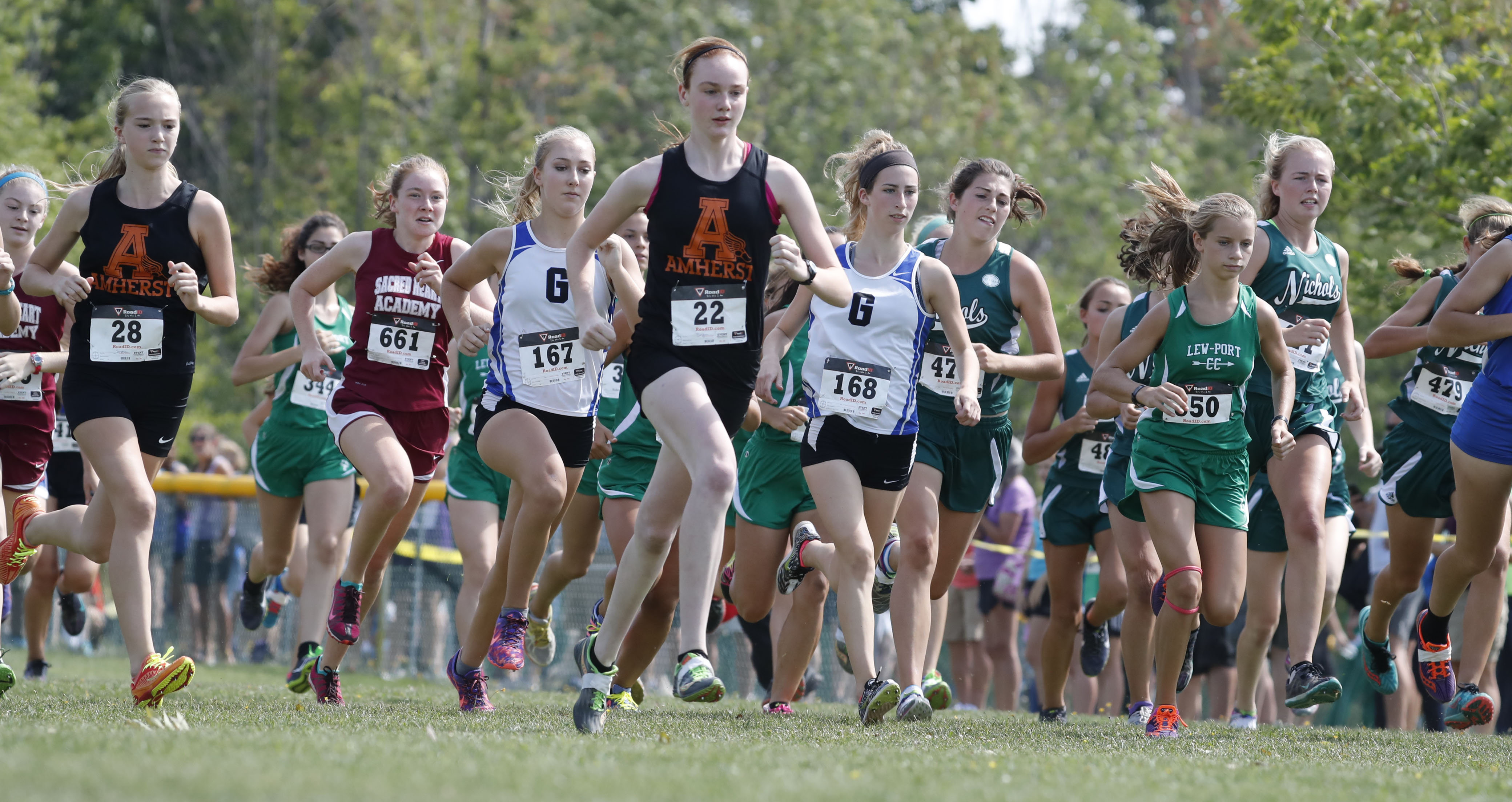 Runners compete in the girls small schools cross country meet  at Sunshine Park in West Seneca Sept. 10. (Harry Scull Jr./Buffalo News)