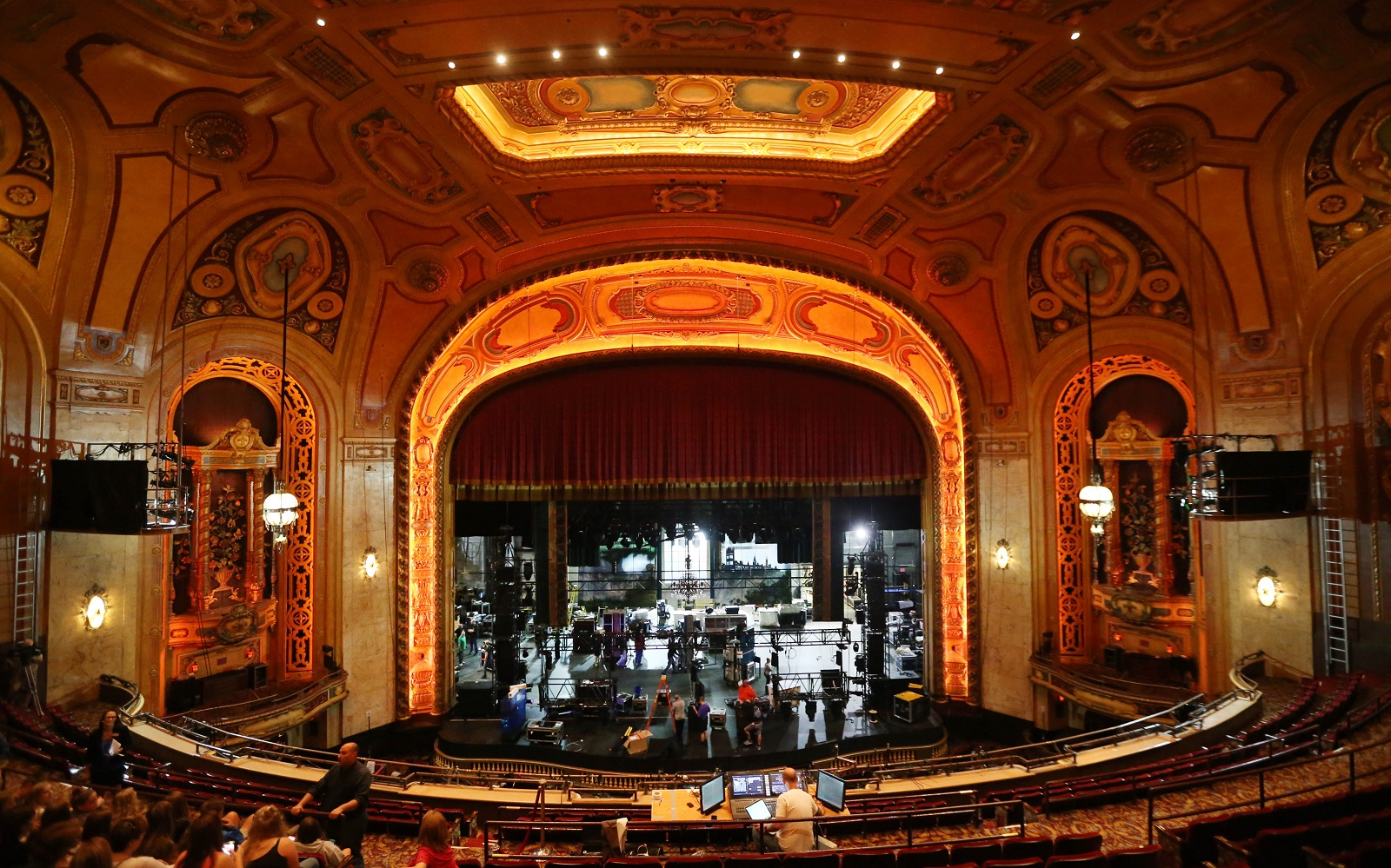 A massive tech load-in for national tour 'Finding Neverland' takes place at Shea's. (Sharon Cantillon/Buffalo News)
