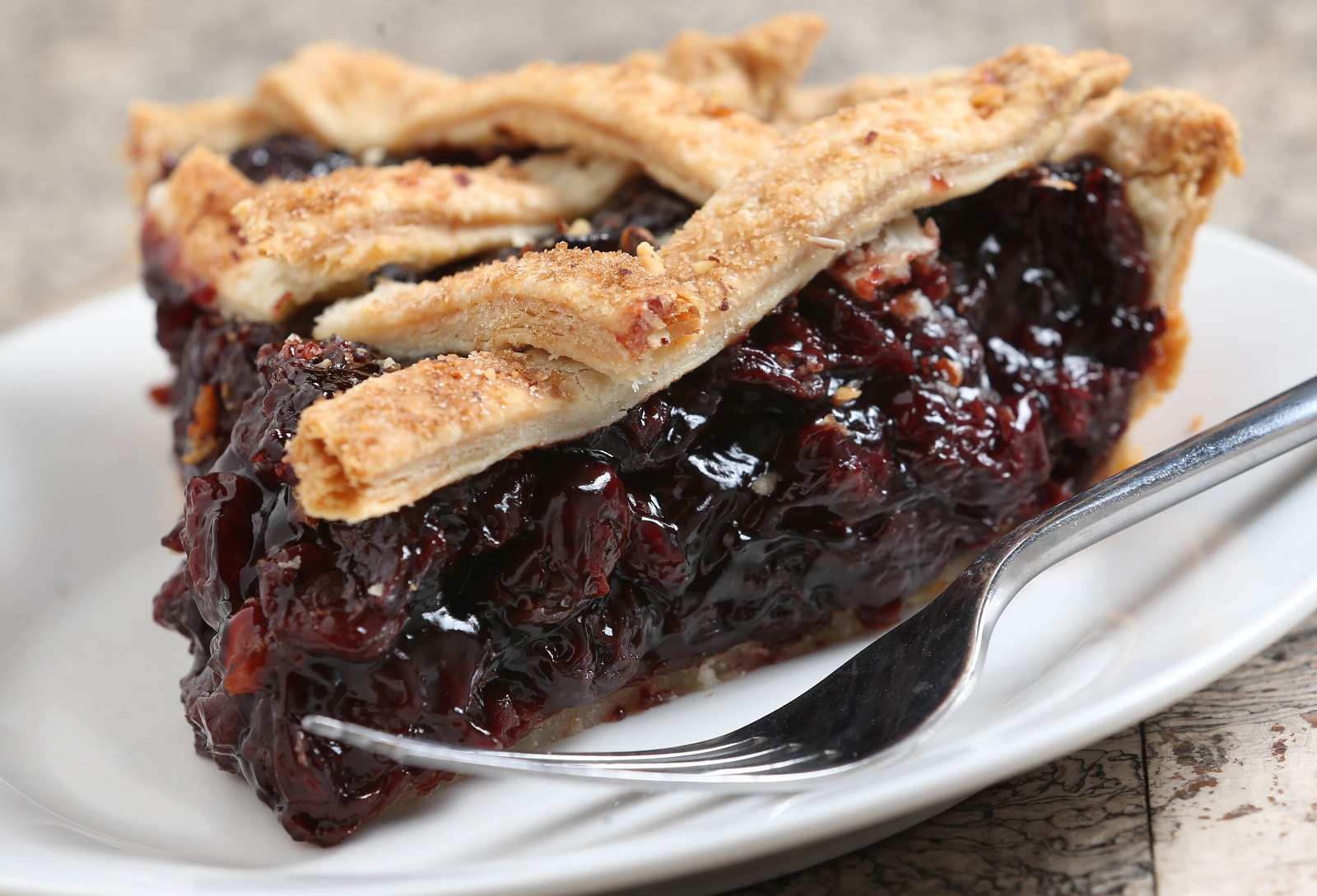 Tom's Ultimate Cherry Pie from Singer Farms. (Sharon Cantillon/Buffalo News)