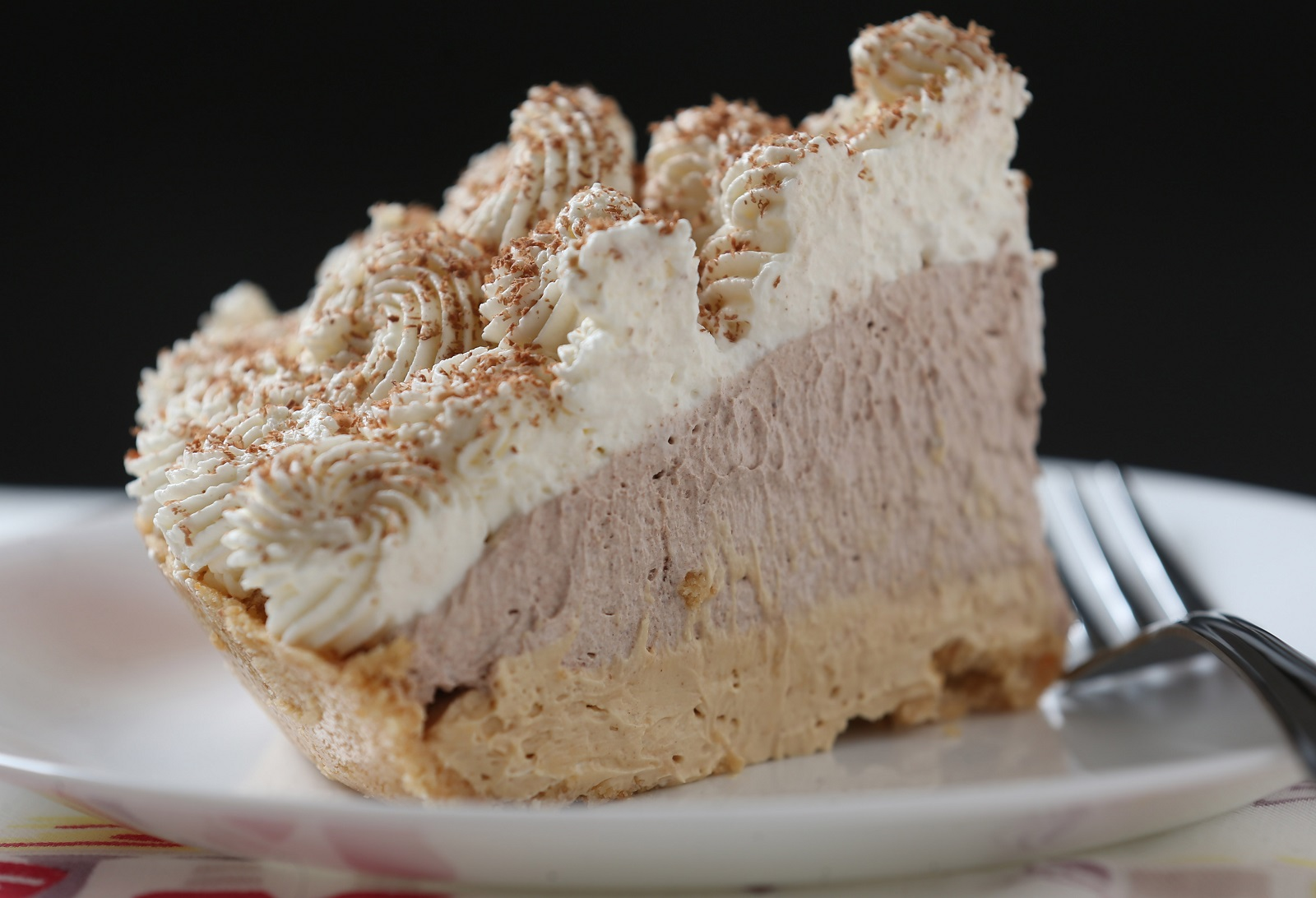 The chocolate peanut butter cream pie from Big Suzie's Little Bakery is one of Andrew Galarneau's pie picks. (Sharon Cantillon/Buffalo News)