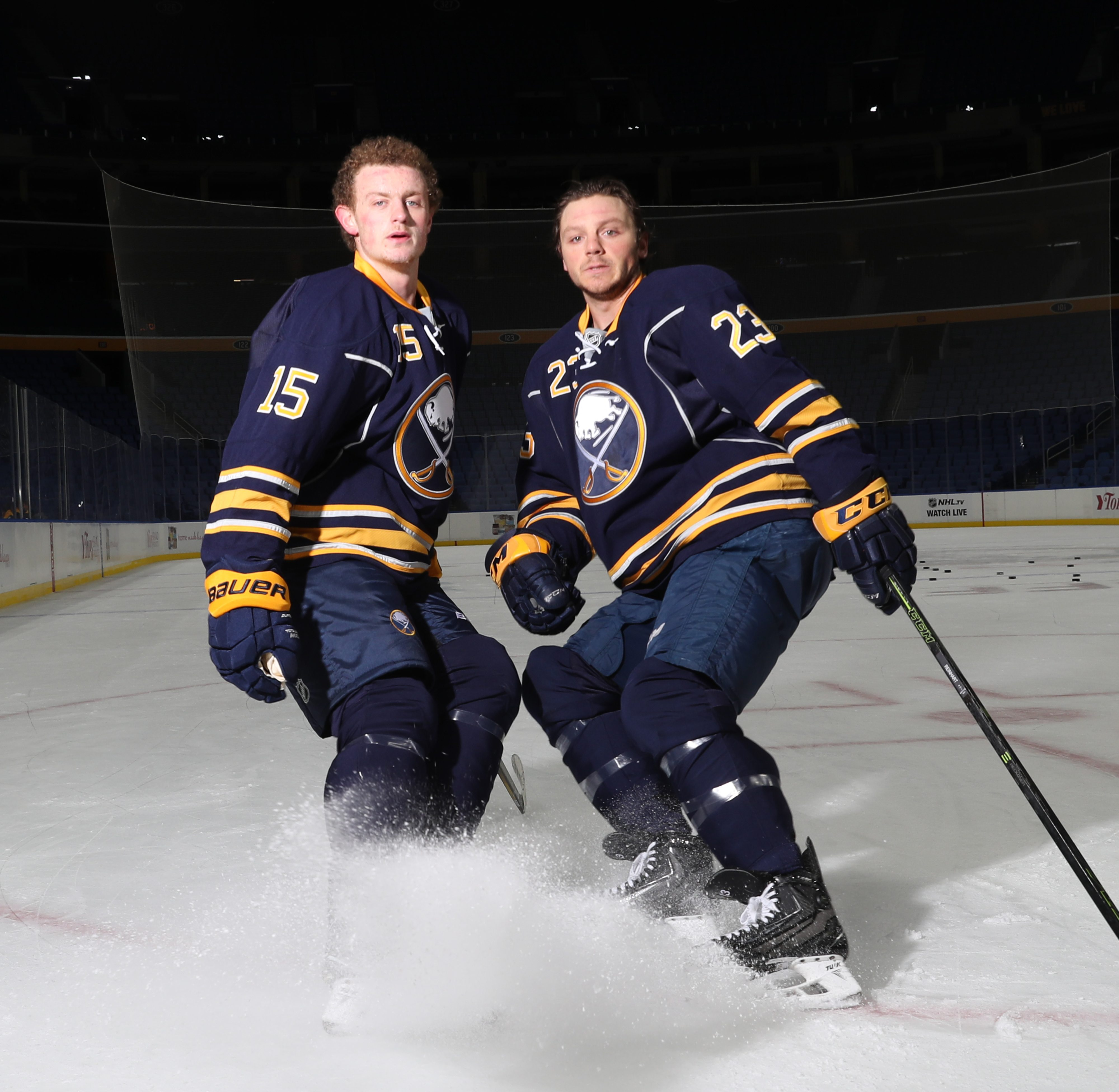 Jack Eichel and Sam Reinhart are determined to become an elite pair in the NHL. If they succeed, it will be a breath of fresh air for playoff-starved Buffalo. (James P. McCoy/ Buffalo News)