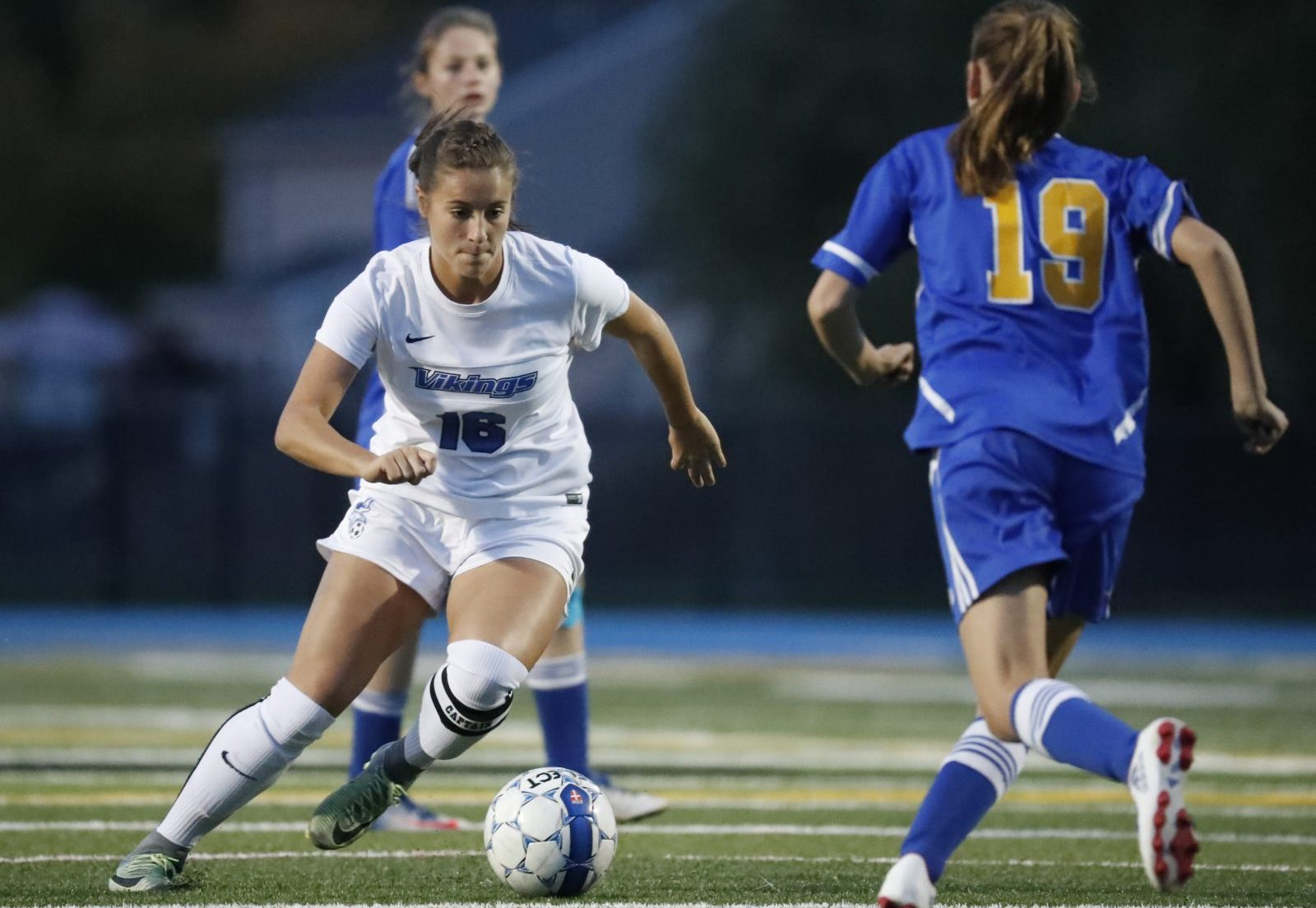 Grand Island's Madisyn Pezzino scored 73 goals this season and 251 for her career. (Harry Scull Jr./Buffalo News)