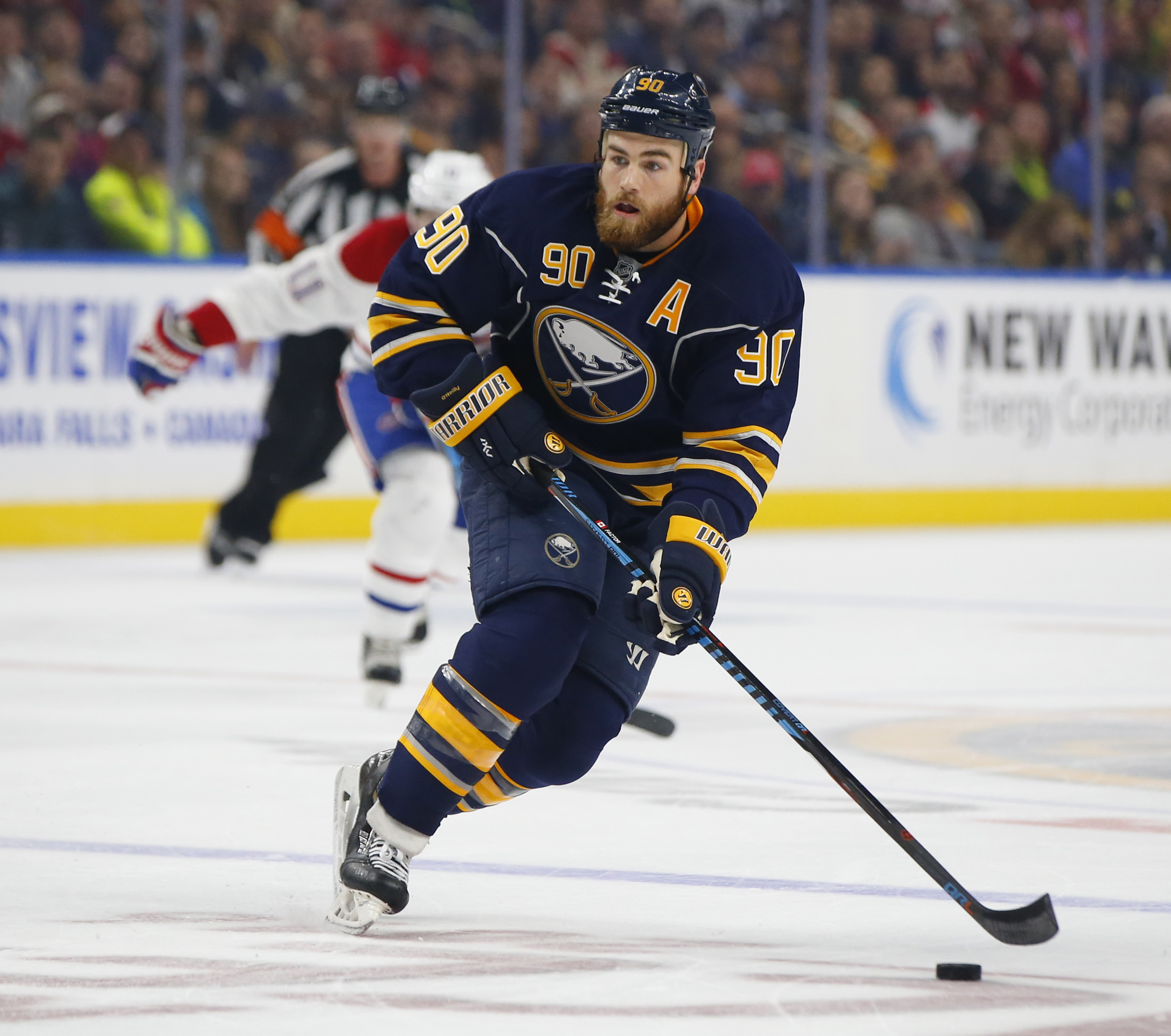 Ryan O'Reilly takes pride in his faceoffs, and it shows in the NHL rankings. (Harry Scull Jr./Buffalo News)