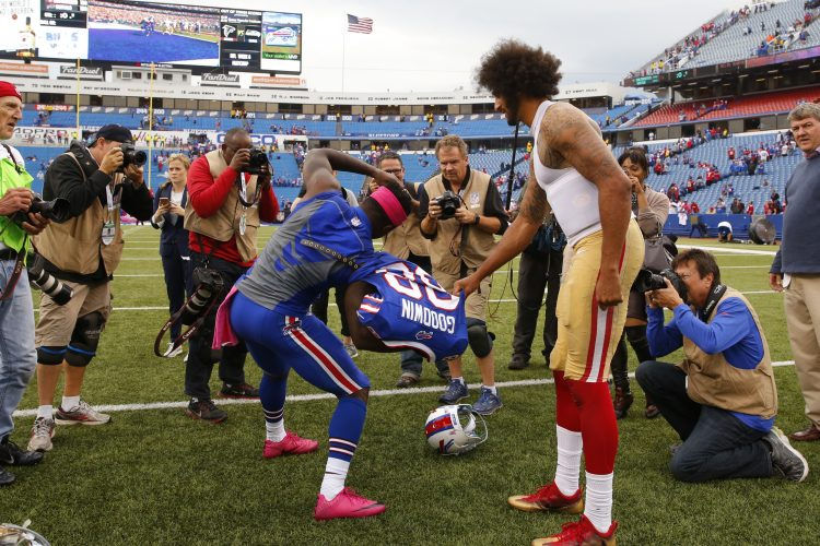 Bills receiver, U.S. Olympian Marquise Goodwin snags Colin Kaepernick's game jersey