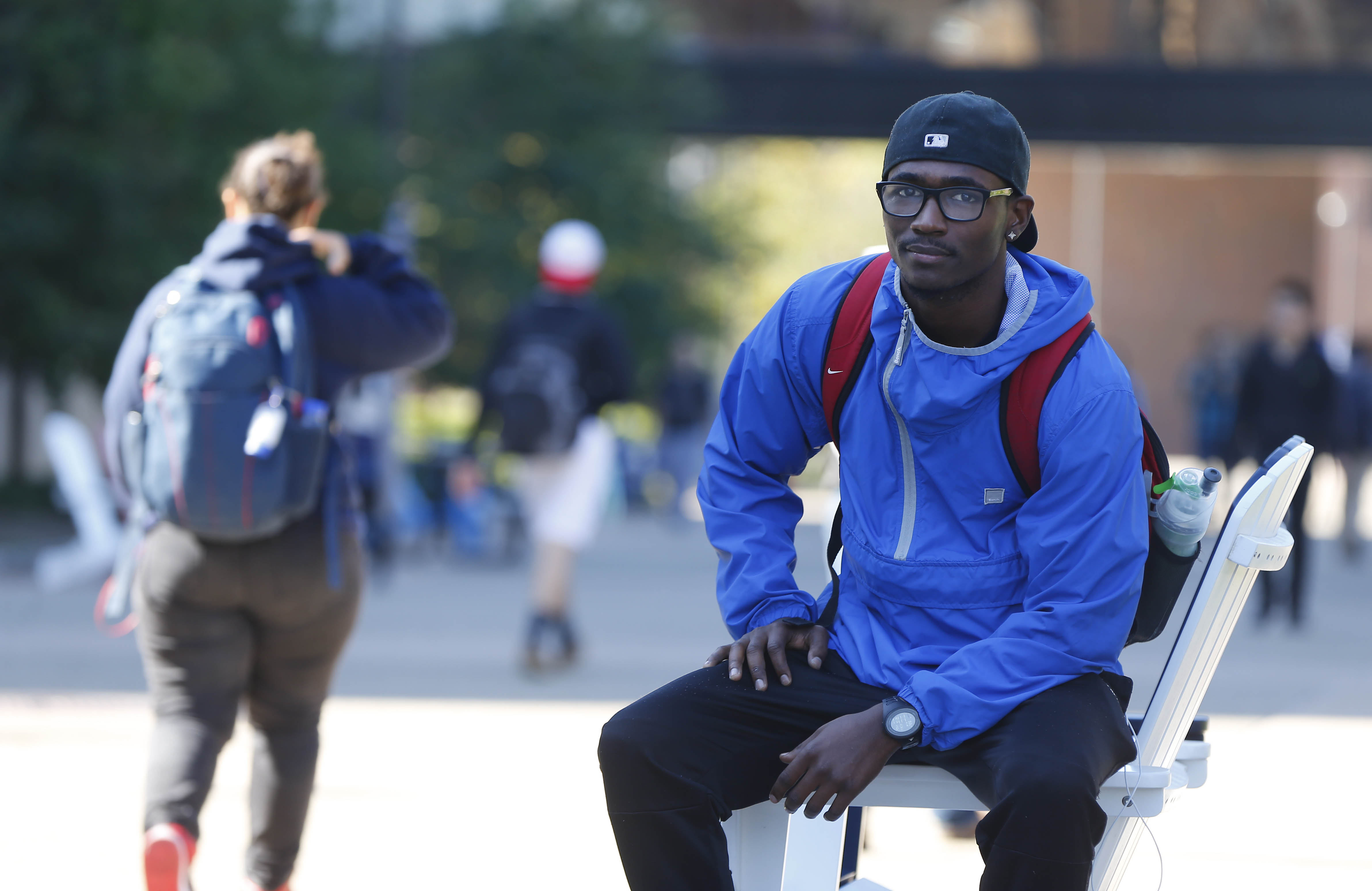 UB student Chaquiel Nettles is now majoring in psychology and eventually hopes to become a teacher. (Mark Mulville/The Buffalo News)