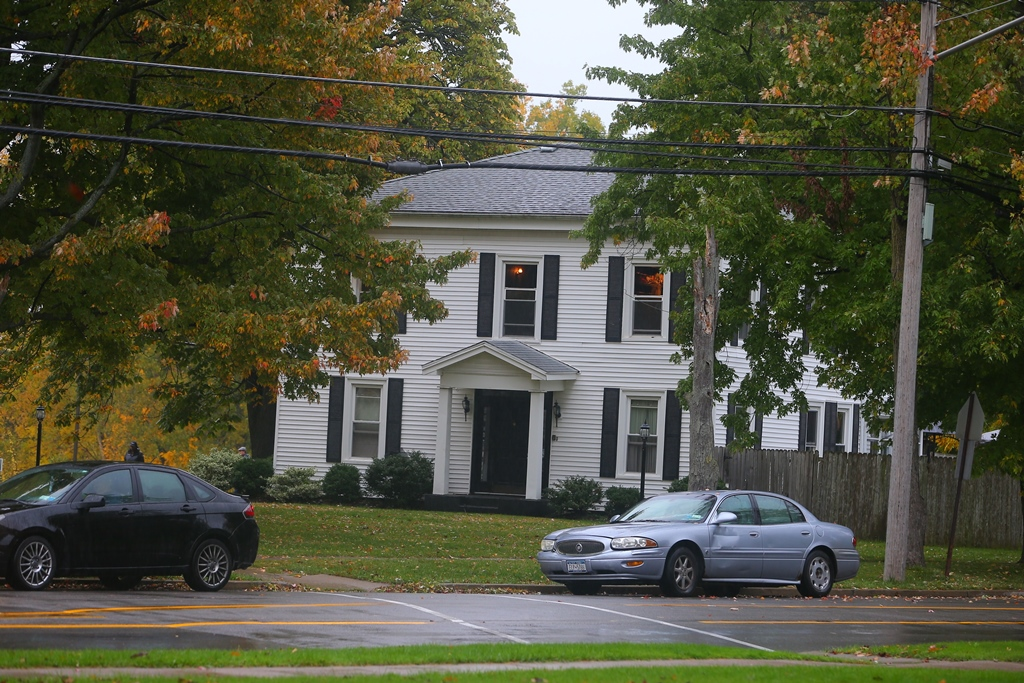 Home at 605 E. High Street in Lockport where a woman was found dead Thursday Oct. 20, 2016.  (John Hickey/Buffalo News)