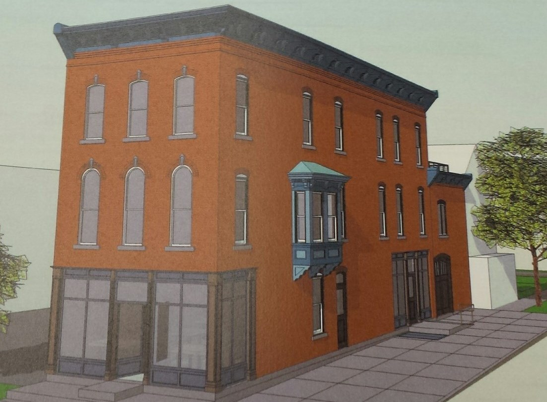 Owner William Breeser plans to convert this Italianate-style building into a first-floor restaurant and three apartments on the second and third floors. (Jonathan D. Epstein/The Buffalo News)