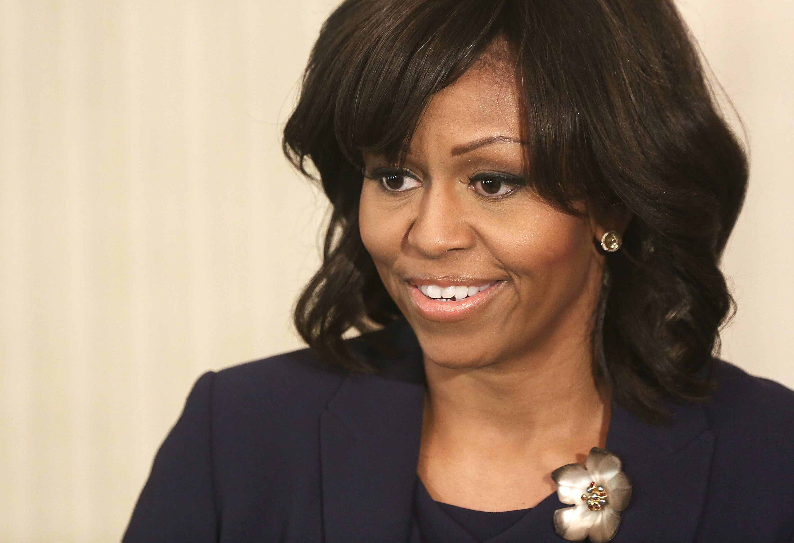 U.S. first lady Michelle Obama announced the Mayors Challenge to End Veteran Homelessness as part of her Joining Forces Initiative in June 2014. (Photo by Alex Wong/Getty Images)