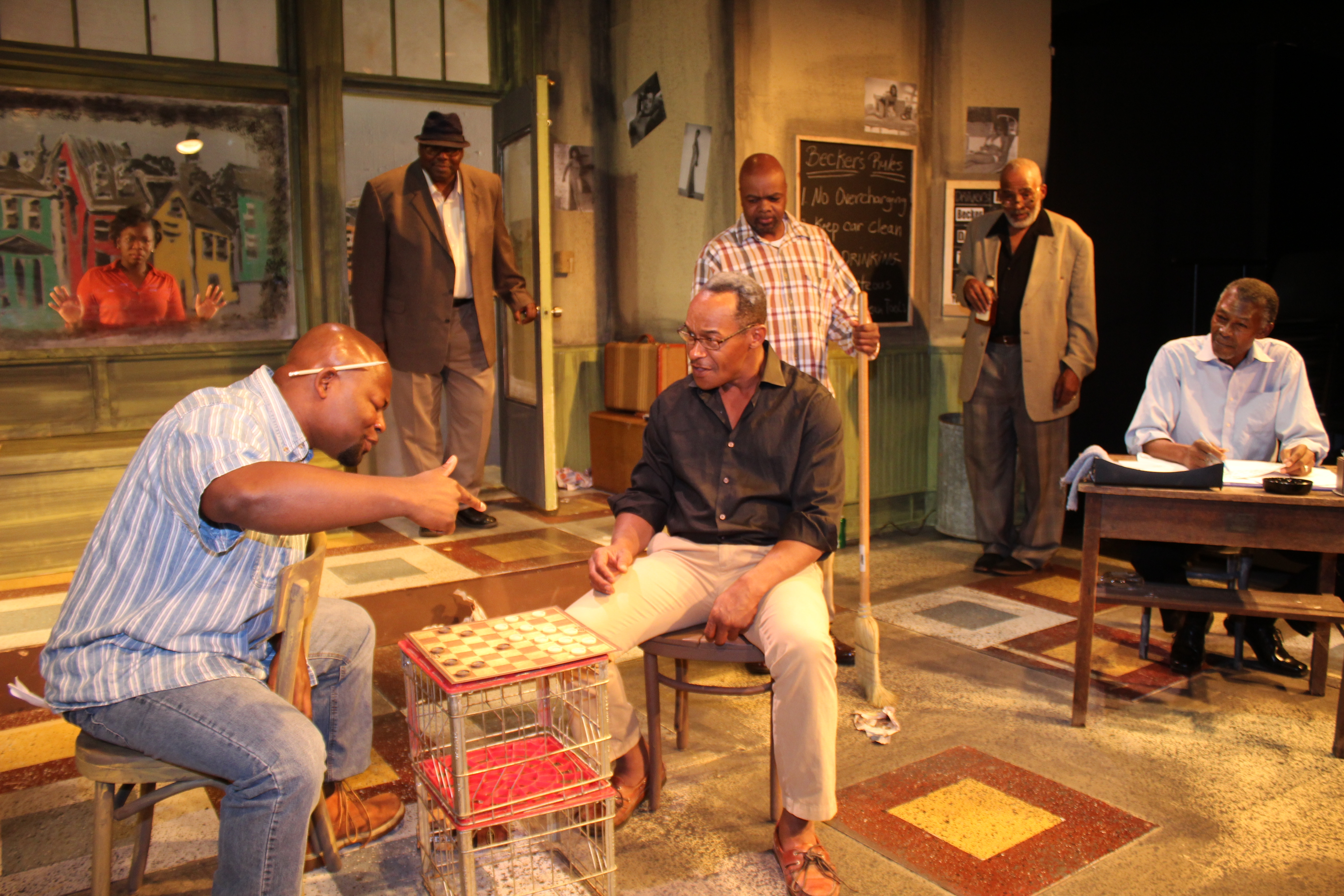 "Paul Robeson Theatre presents ""Jitney."""