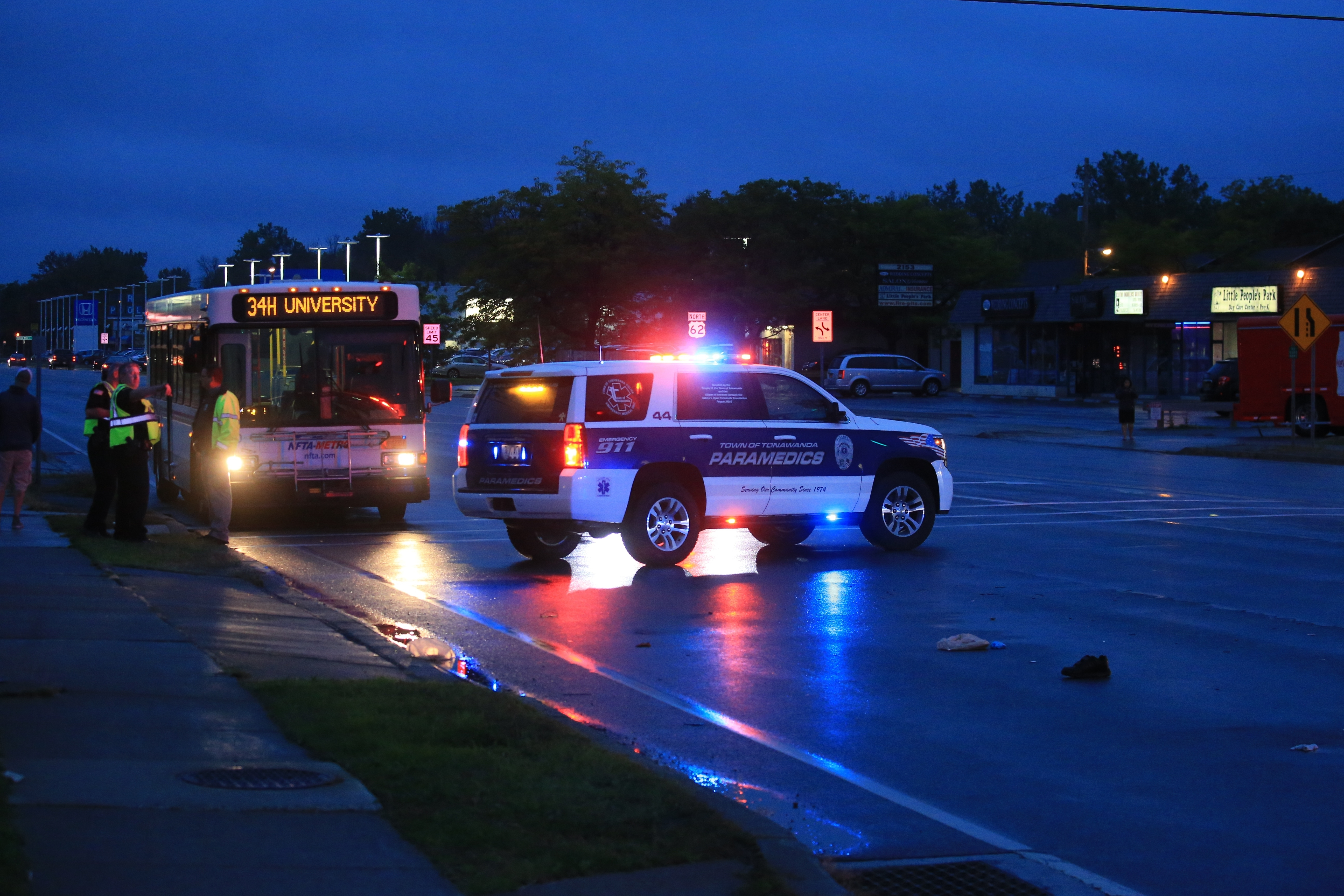A man struck while crossing Niagara Falls Boulevard near Dexter Terrace last week later died. (John Hickey/Buffalo News)