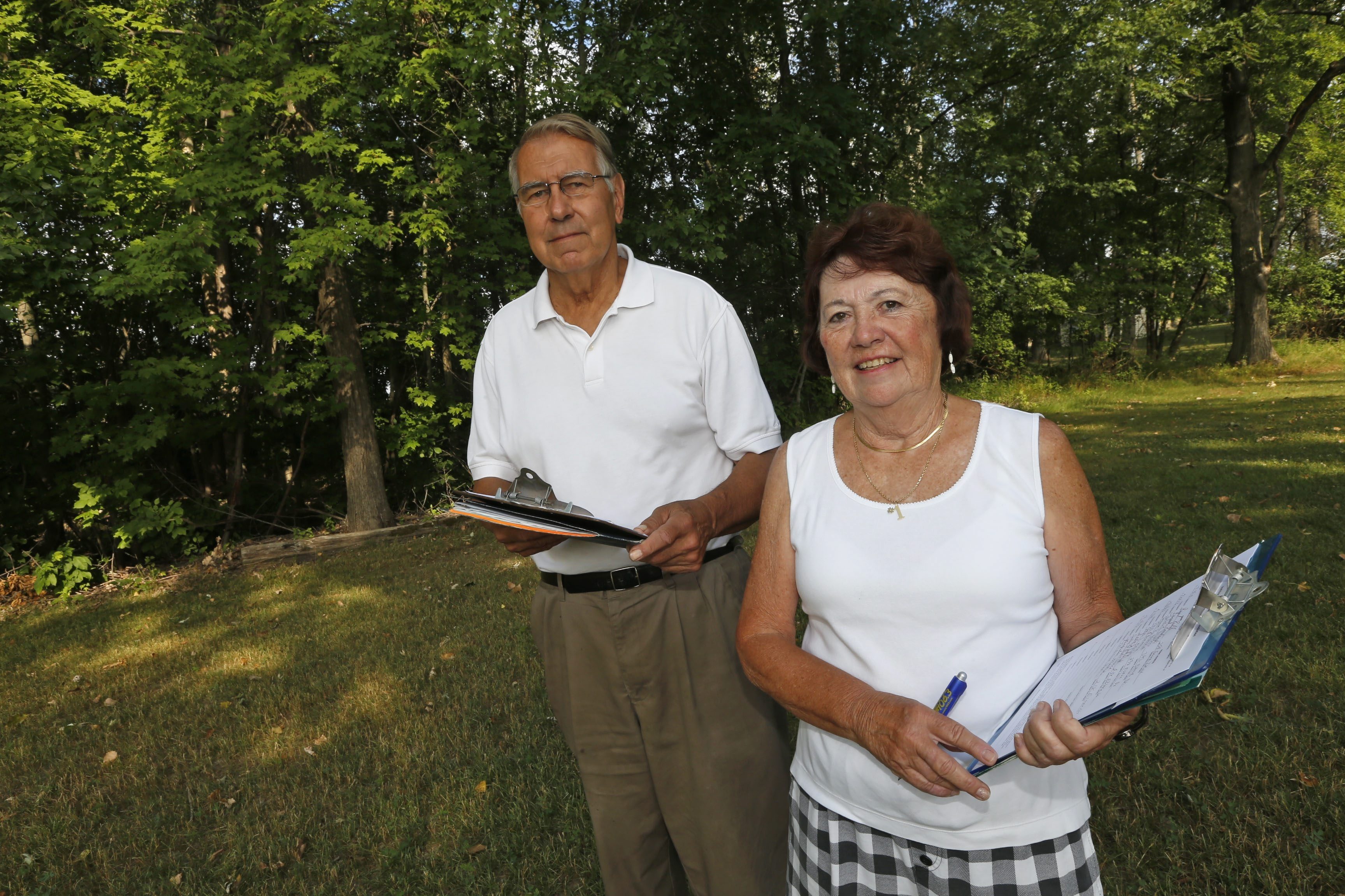 Joan Priebe and Irvine. G. Reinig II have been soliciting signatures toward a referendum to dissolve the Village of Depew.