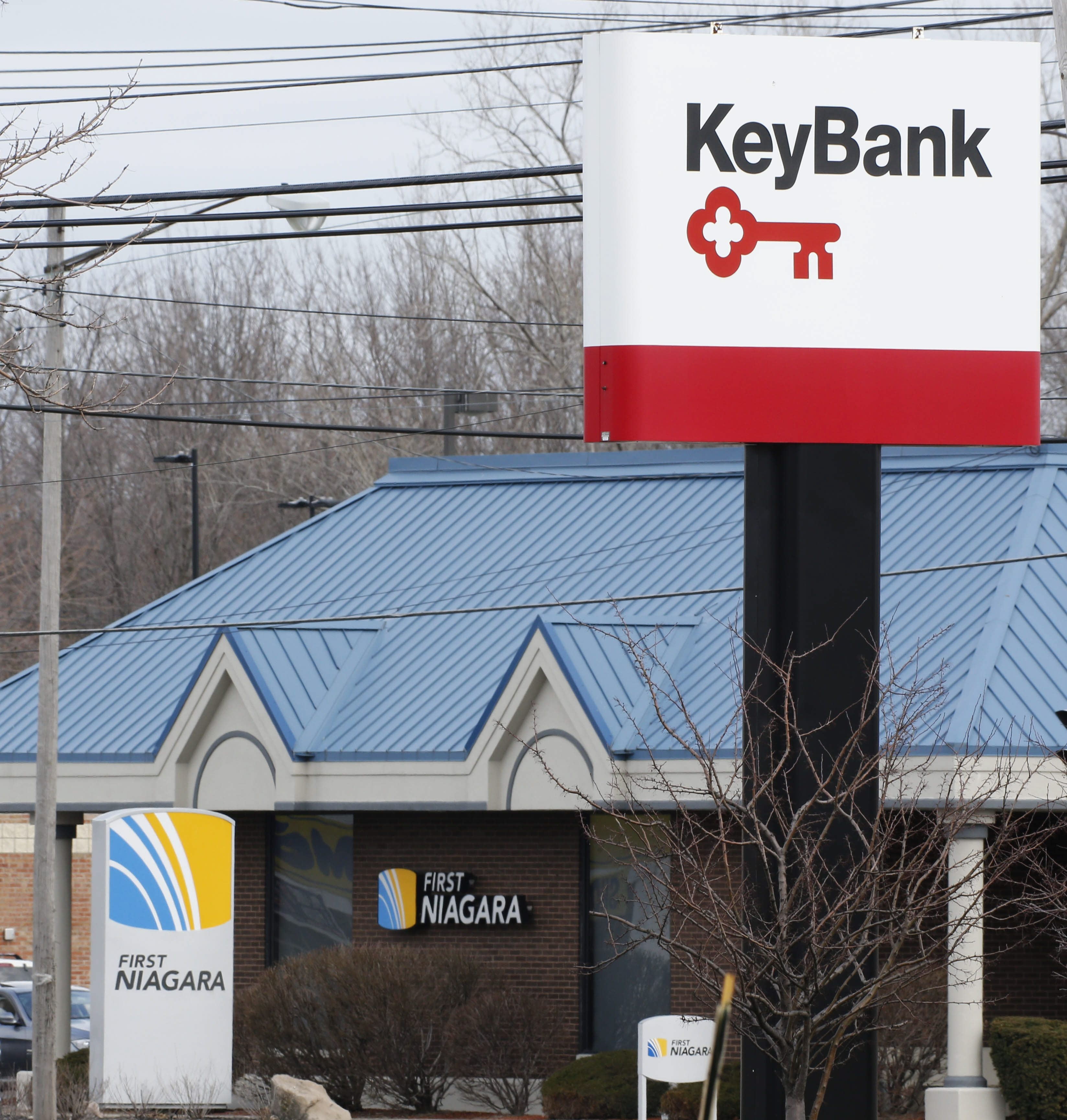 On Tuesday, 304 former First Niagara branches – including 17 in Erie and Niagara counties – reopen as Key locations. (Derek Gee/News file photo)