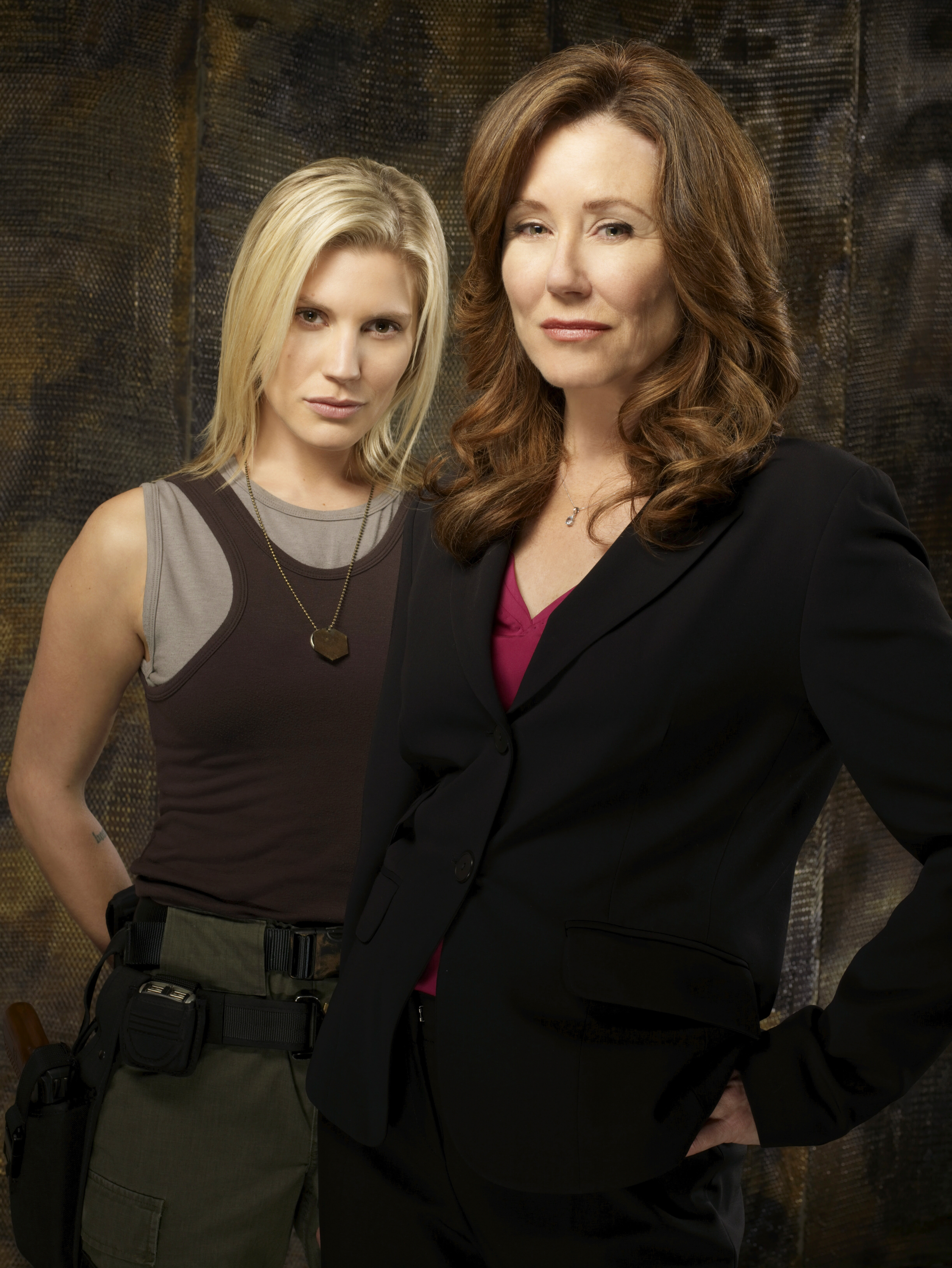 "Katee Sackhoff, left, and Mary McDonnell star in ""Battlestar Gallactica."""