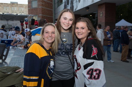 Smiles at Party in the Plaza for Sabres 2016 Home Opener