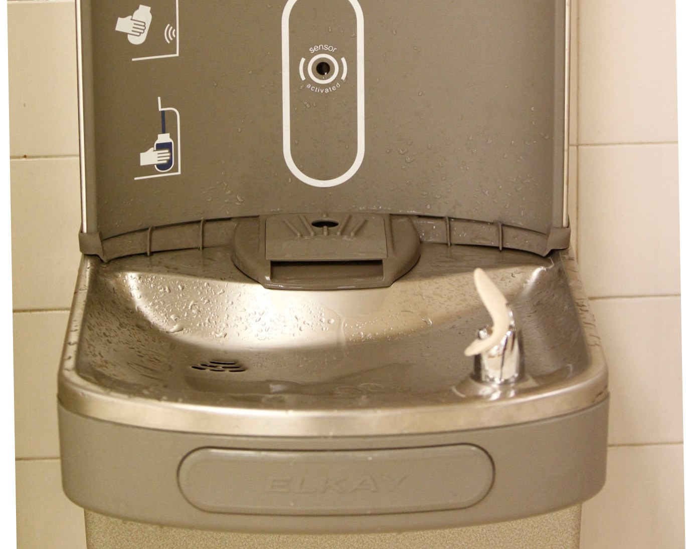 Water fountains at Clarence High School made for water bottles, pictured in 2012. (Harry Scull Jr./Buffalo News)