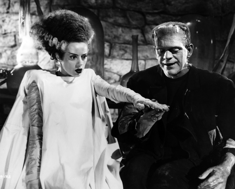 Elsa Lanchester and Boris Karlott star in the 1935 classic 'Bride of Frankenstein.'