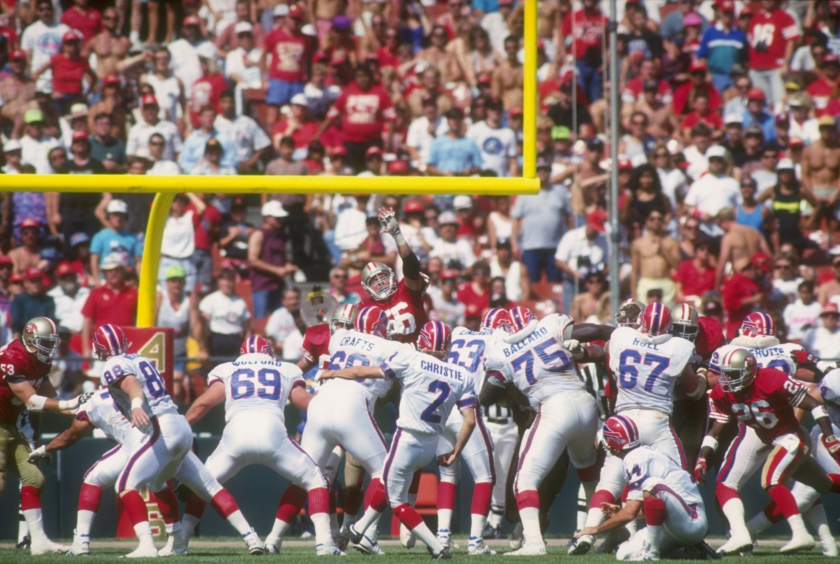 The San Francisco 49ers and the Buffalo Bills battled at Candlestick Park in Week Two of the 1992 season. (Getty Images file photo)