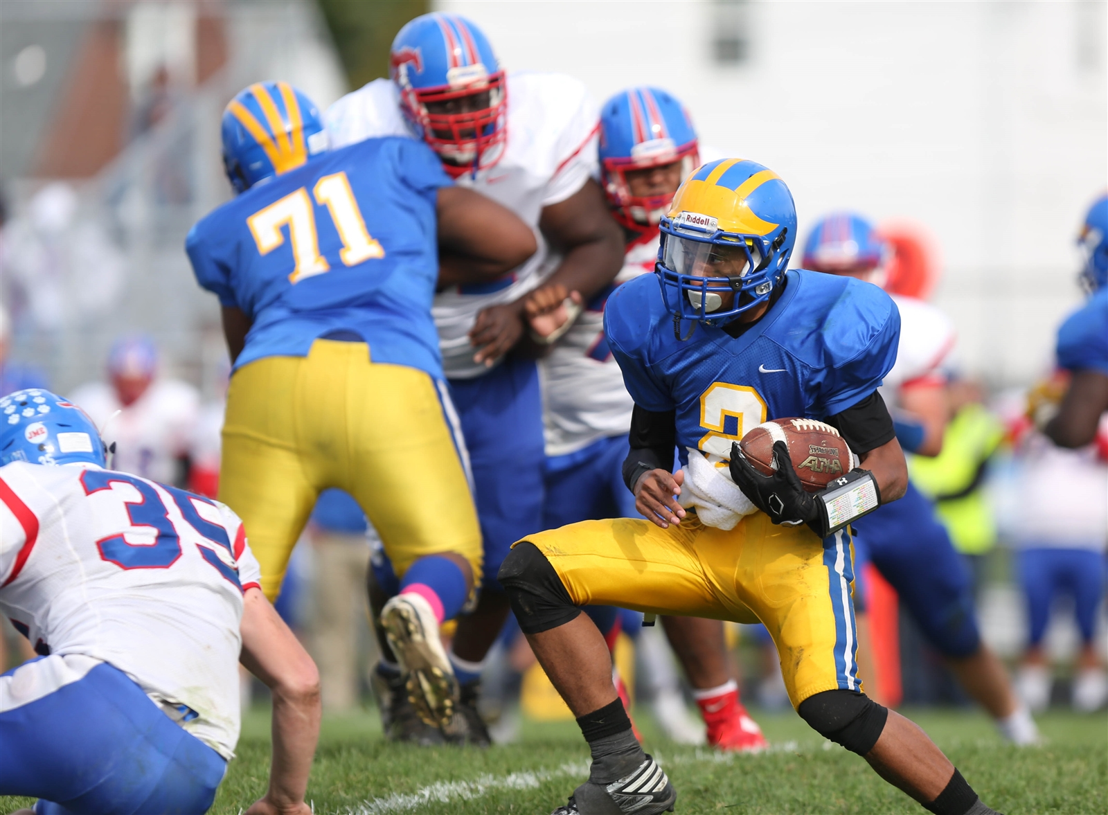 Tyler Phillips and the Cleveland Hill Golden Eagles begin their quest for a playoff championship at home Saturday afternoon. (Dave DeLuca/Special to The News)