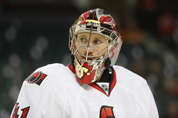 Craig Anderson made 37 saves to shut out Edmonton on Sunday (Getty Images).