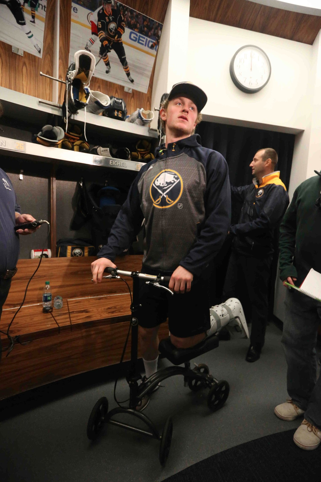 Jack Eichel says it was hard to sit back and watch. (Photo by John Hickey/Buffalo News)